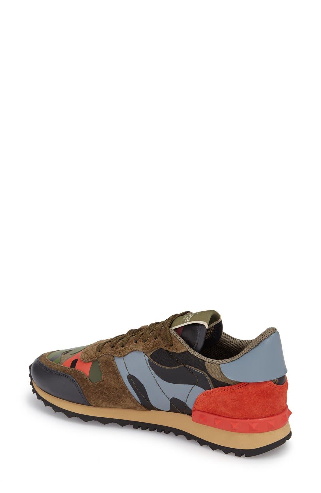 Alternate Image 2  - Valentino Rockstud Camo Sneaker (Women)
