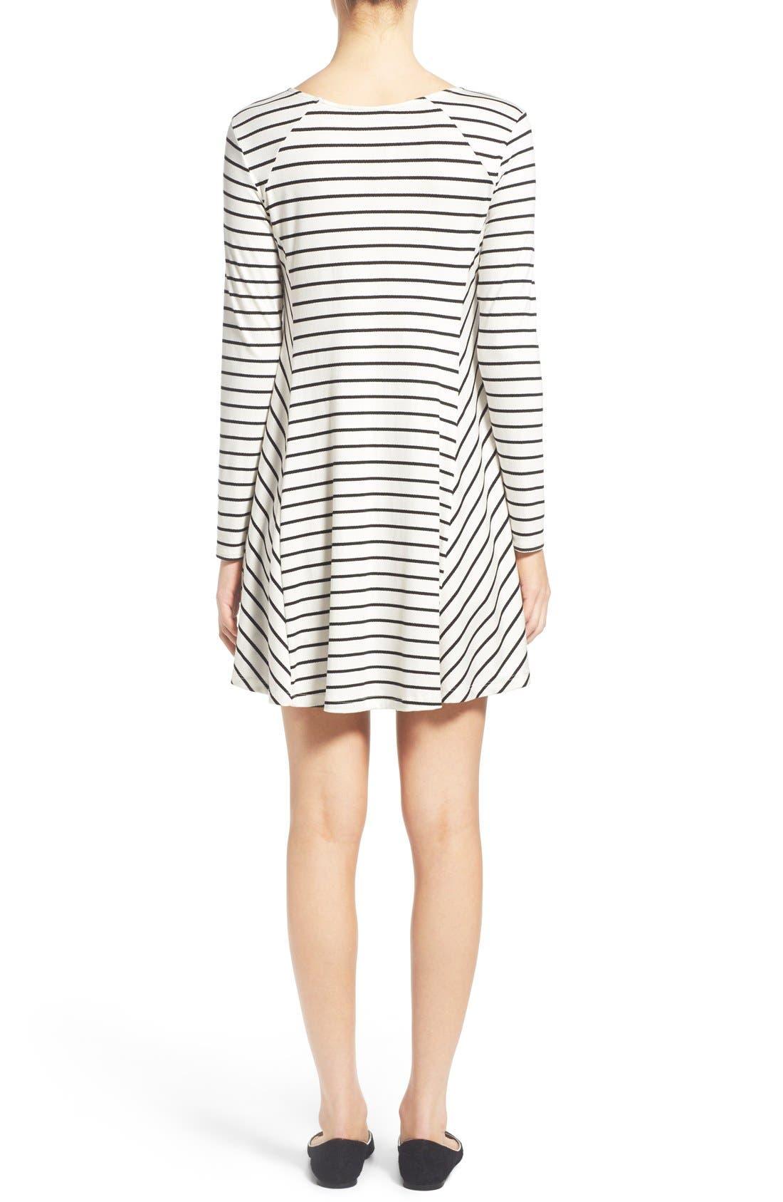 Alternate Image 2  - Lush 'Lauren' Long Sleeve Shift Dress