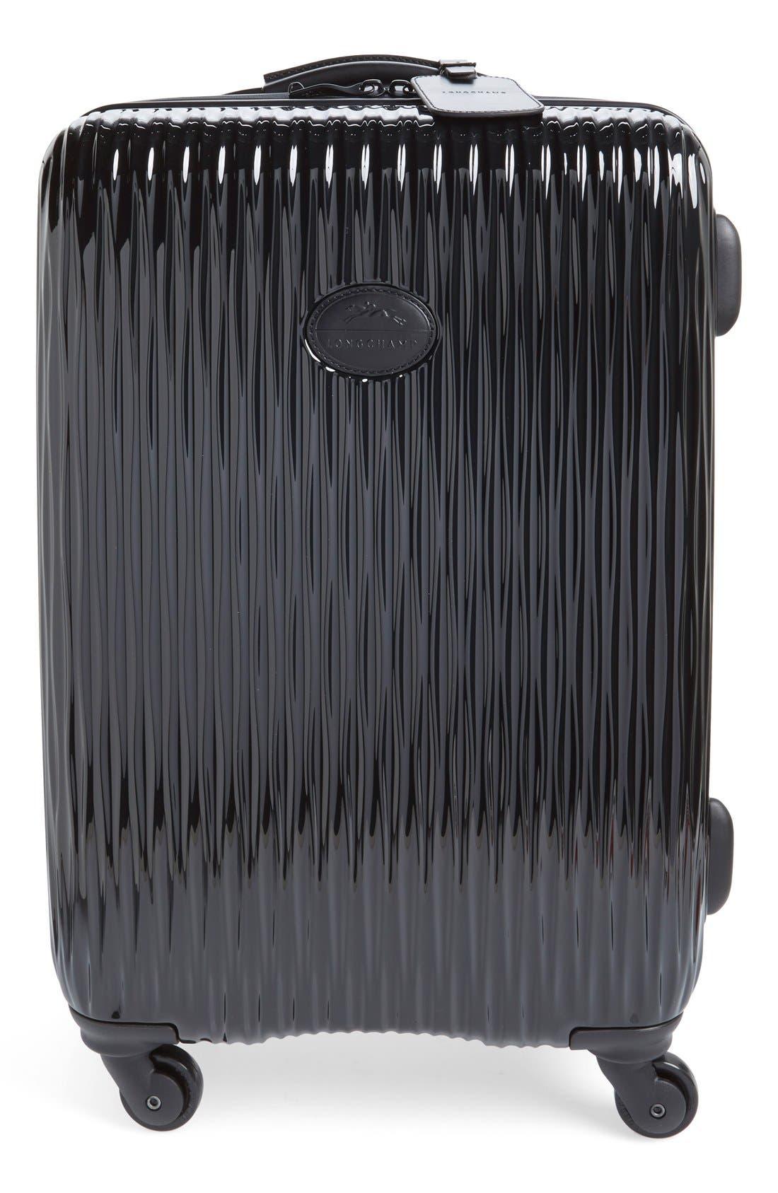 Longchamp 'Medium Fairval' Four-Wheel Hard Shell Suitcase (25 Inch)