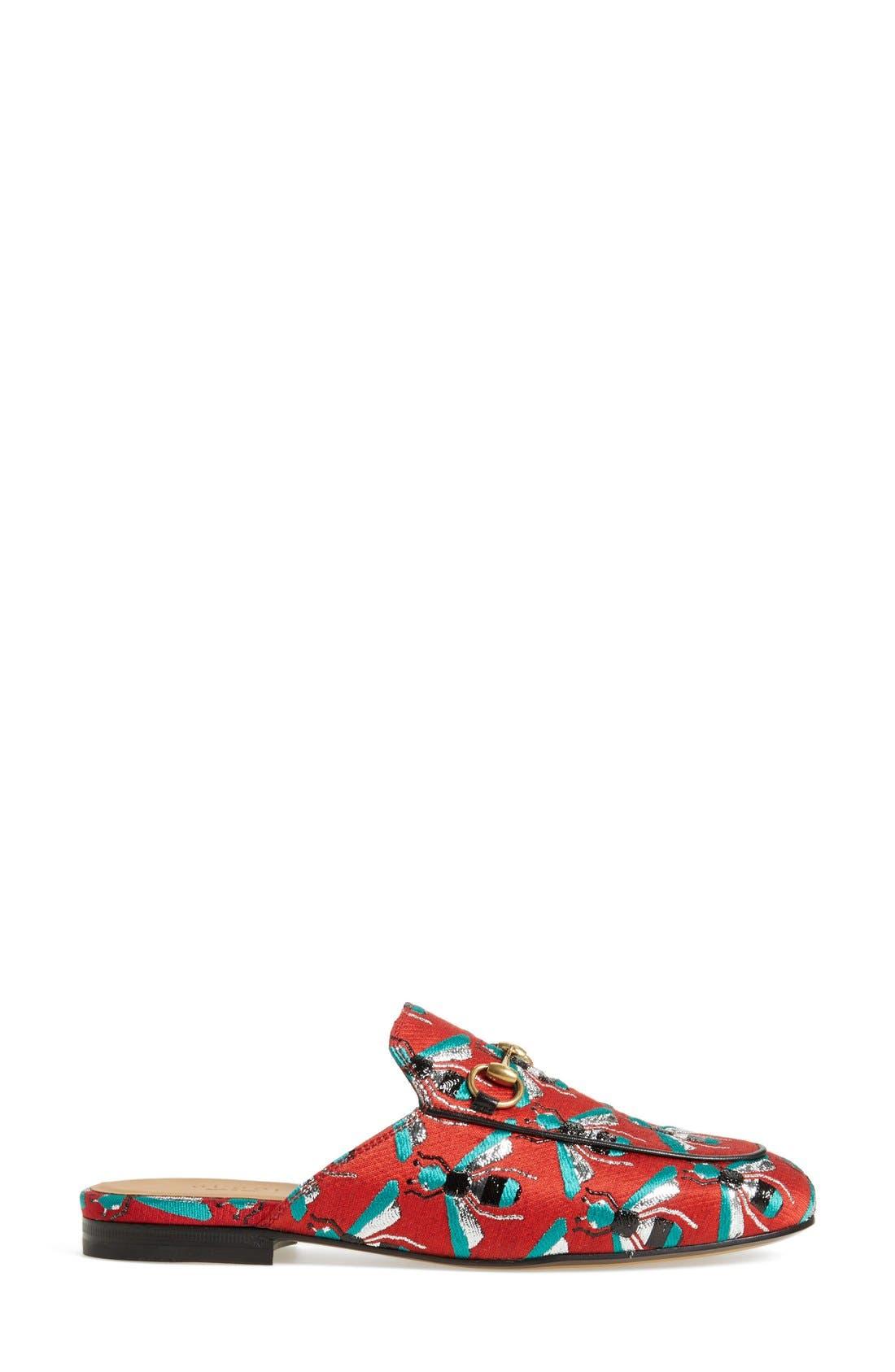 Alternate Image 4  - Gucci 'Princetown' Print Mule Loafer (Women)