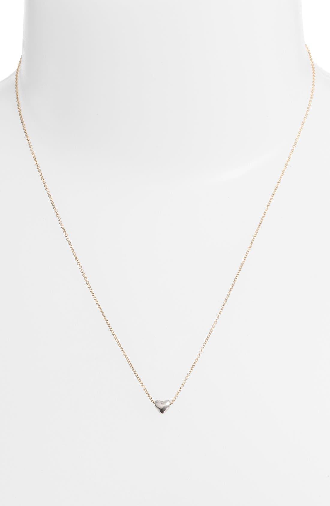 Alternate Image 3  - Dogeared 'Chain Heart' Pendant Necklace