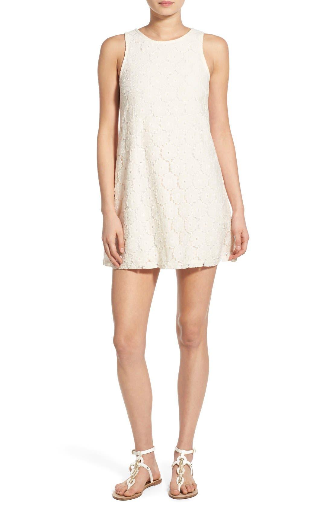 Main Image - Speechless 'Daisy' Lace Sleeveless Shift Dress
