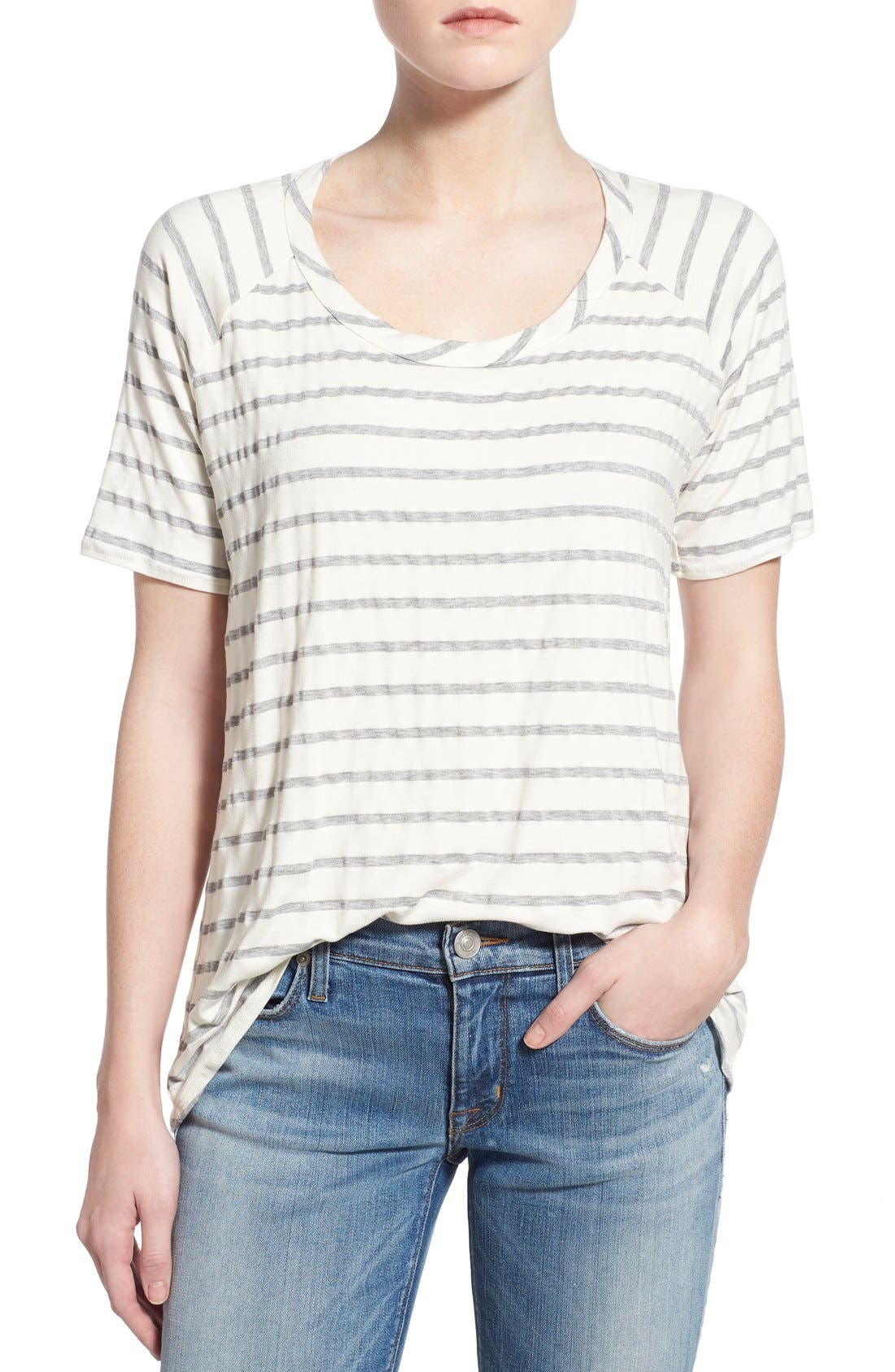 Alternate Image 1 Selected - Chaser Relaxed Stripe High/Low Tee