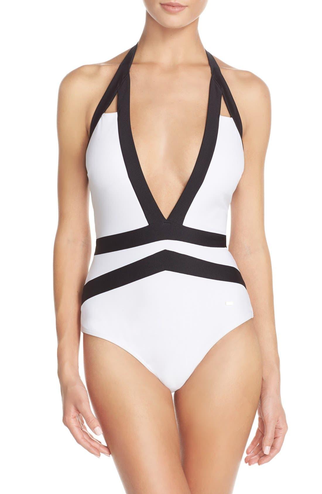 Ted Baker London 'Ralinda' Halter One-Piece Swimsuit