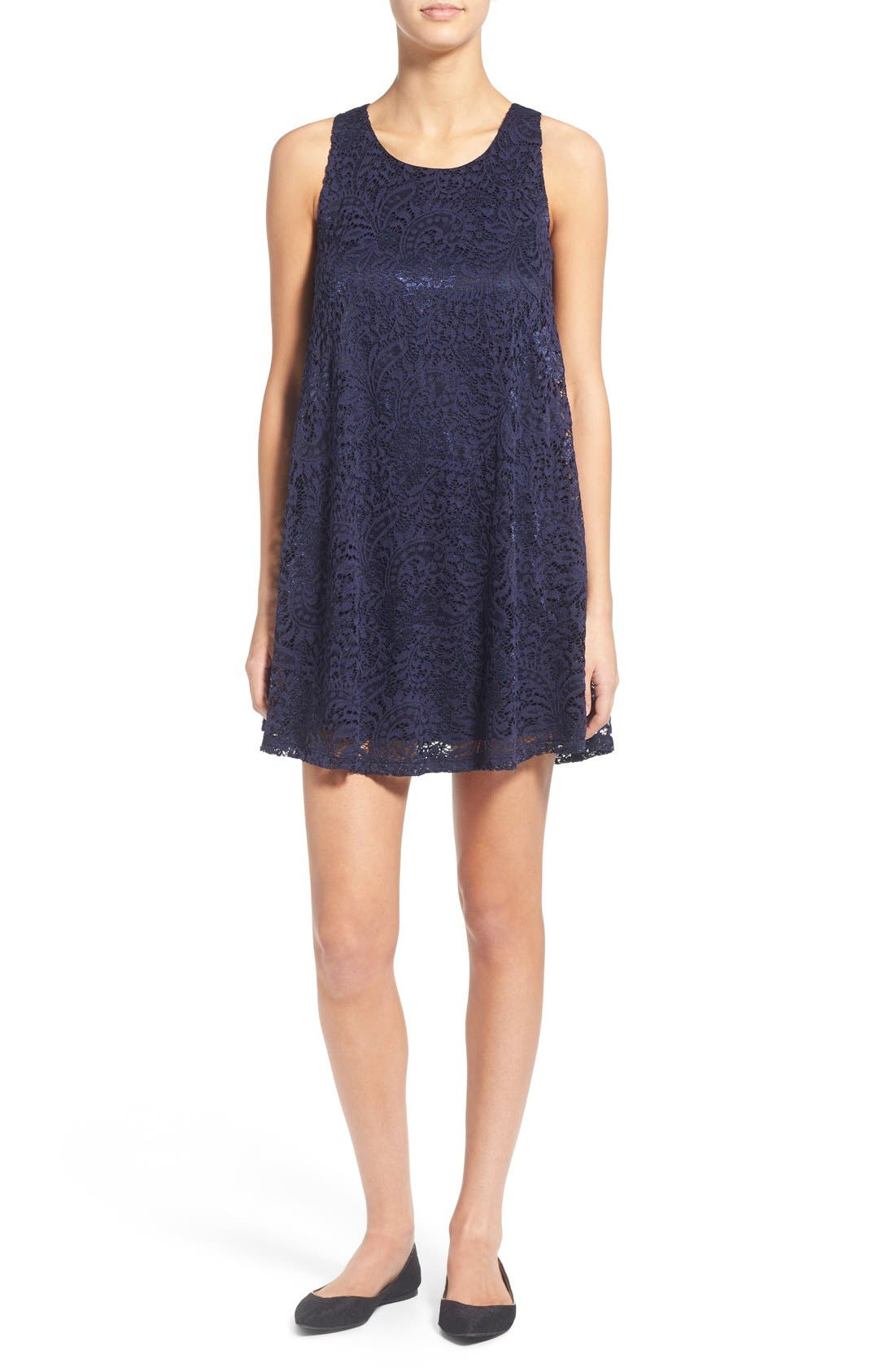 Main Image - Everly Lace Shift Dress