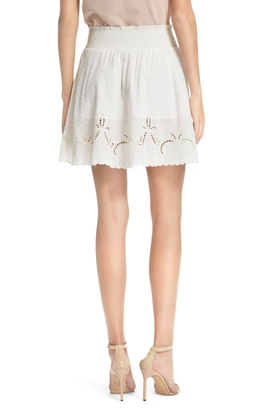 Alternate Image 2  - The Kooples Embroidered Cotton Dobby Skirt