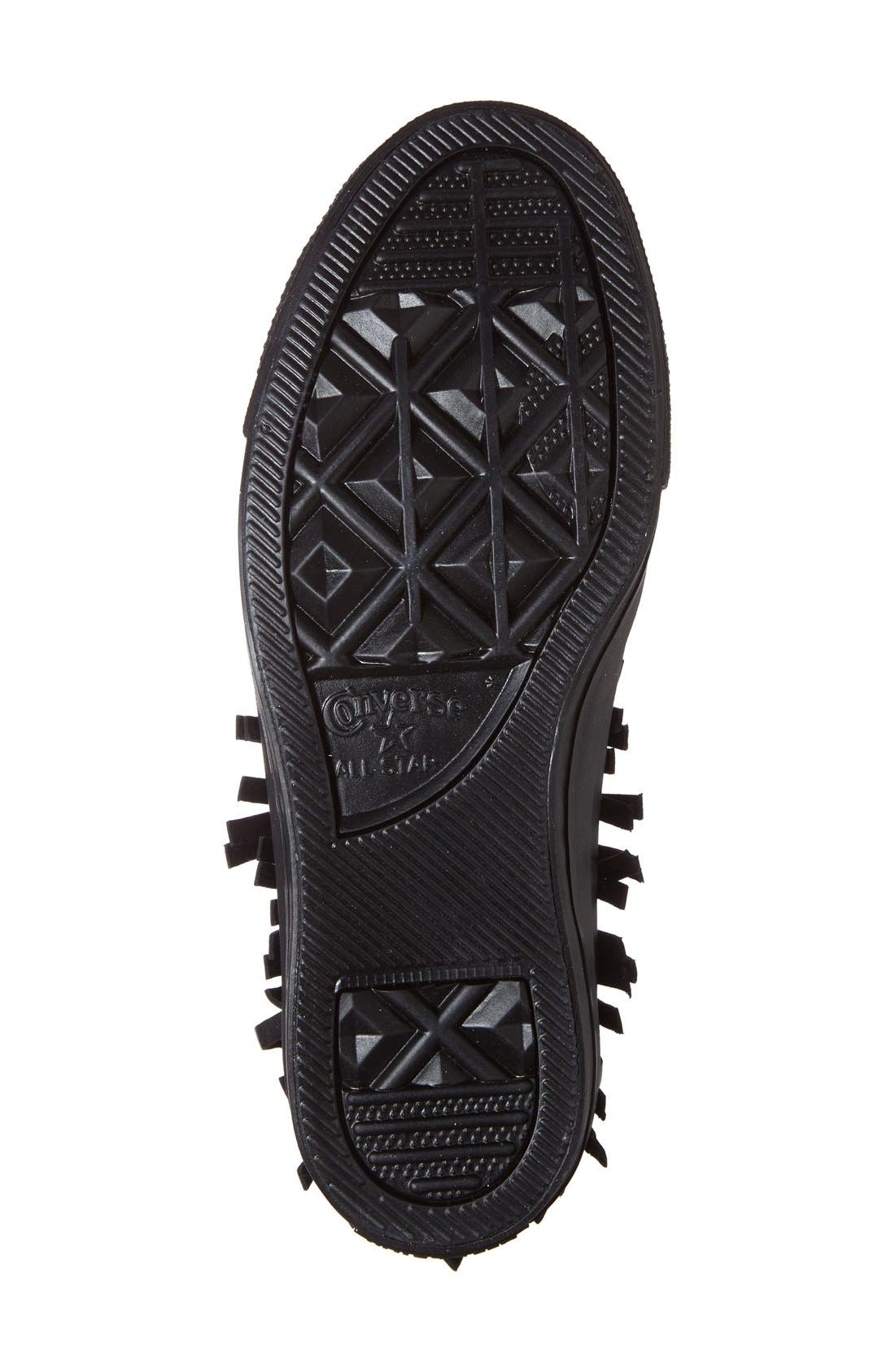 Alternate Image 4  - Converse Chuck Taylor® All Star® Fringe Leather High Top Sneaker (Women)