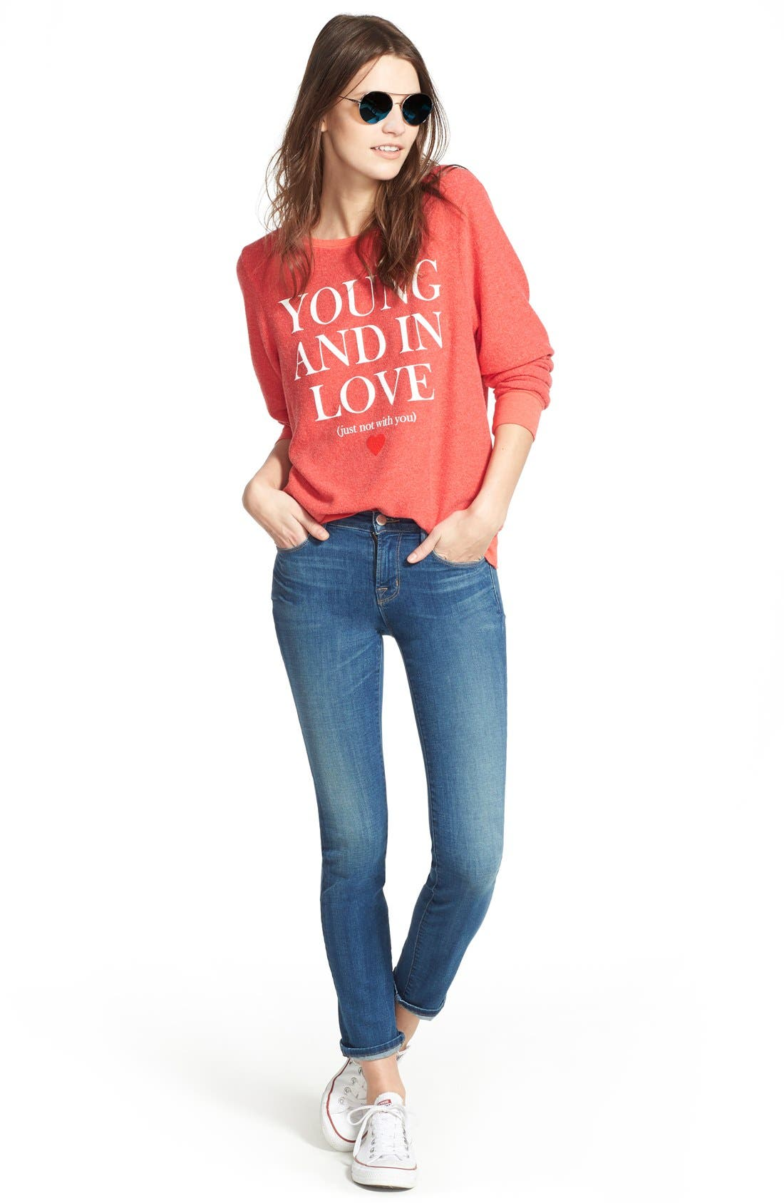 Alternate Image 2  - Wildfox 'Baggy Beach Jumper - Not With You' Pullover