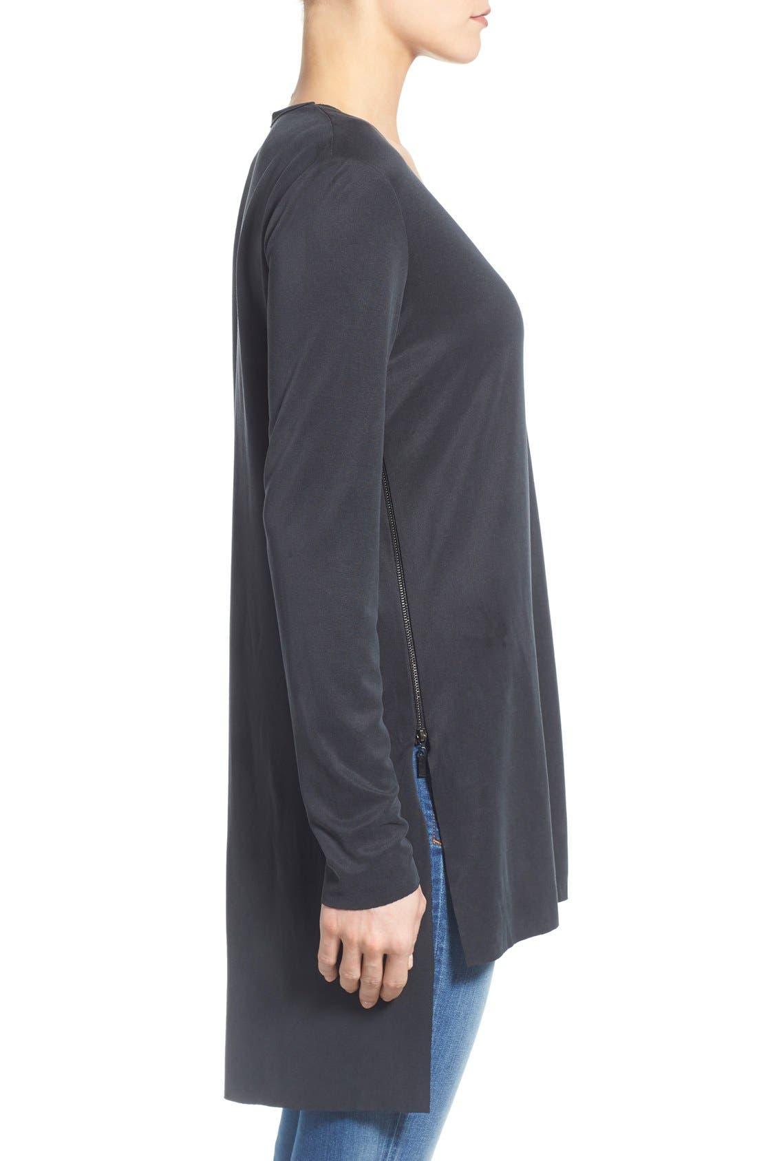 Alternate Image 3  - Matty M Side Zip V-Neck Tunic (Regular & Petite)