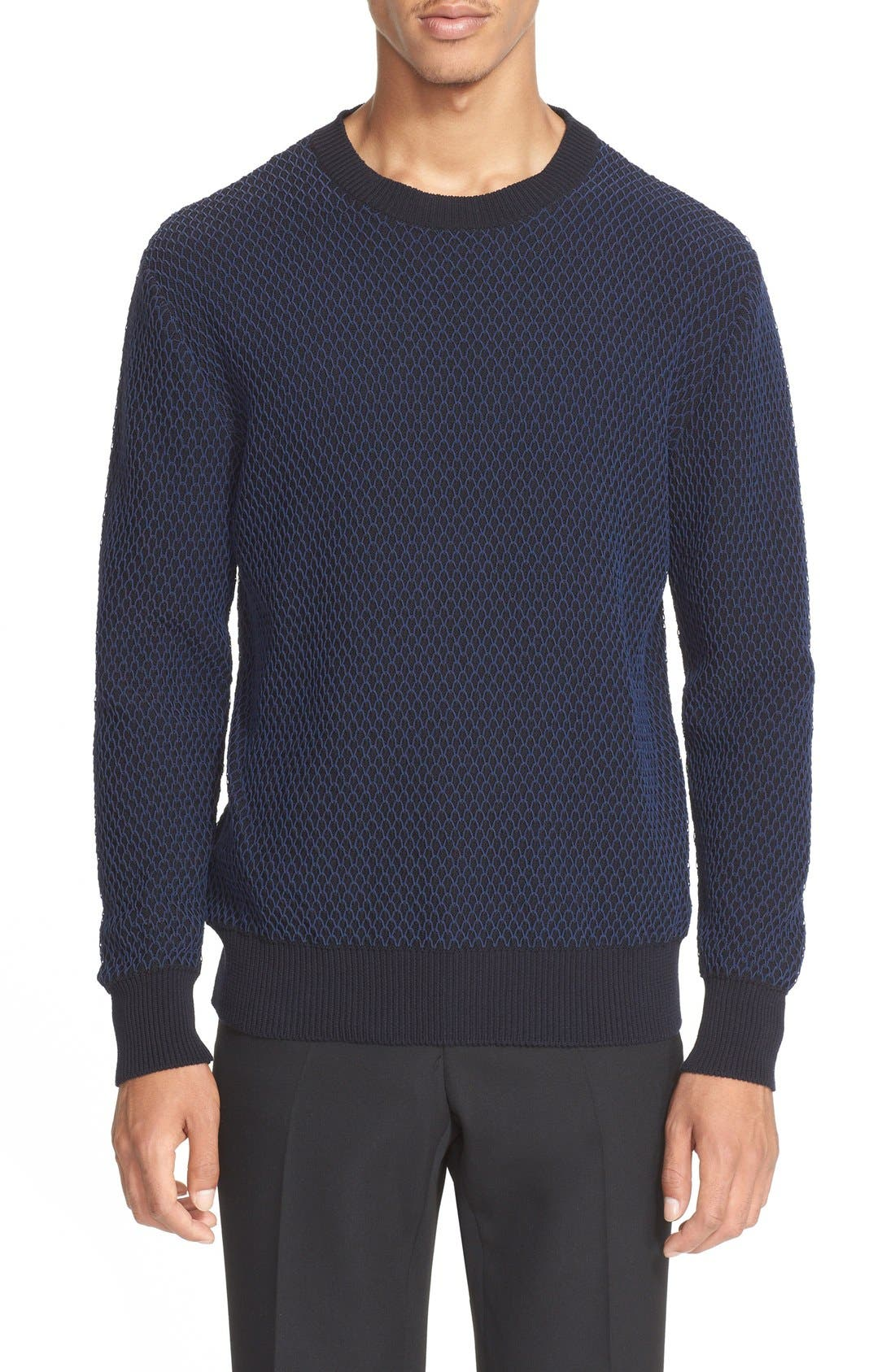 Givenchy 'Fishnet' Crewneck Sweater