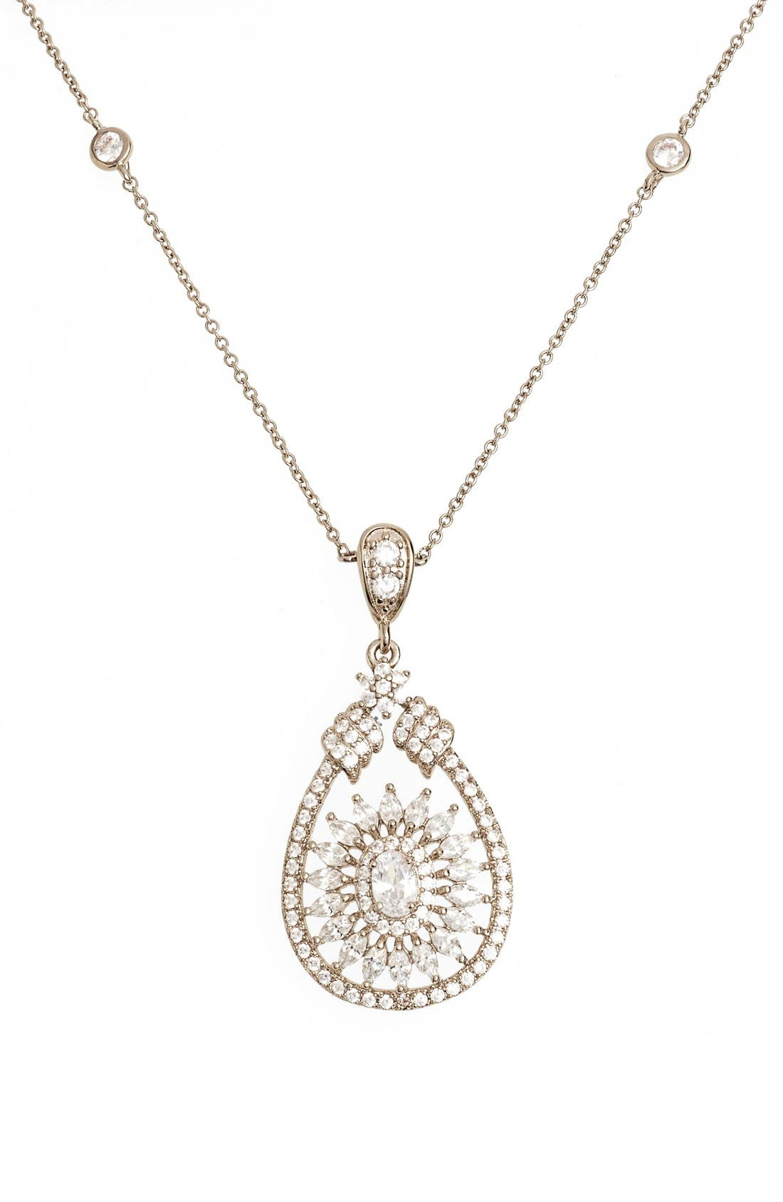 Nina 'Mandala' Crystal Pendant Necklace