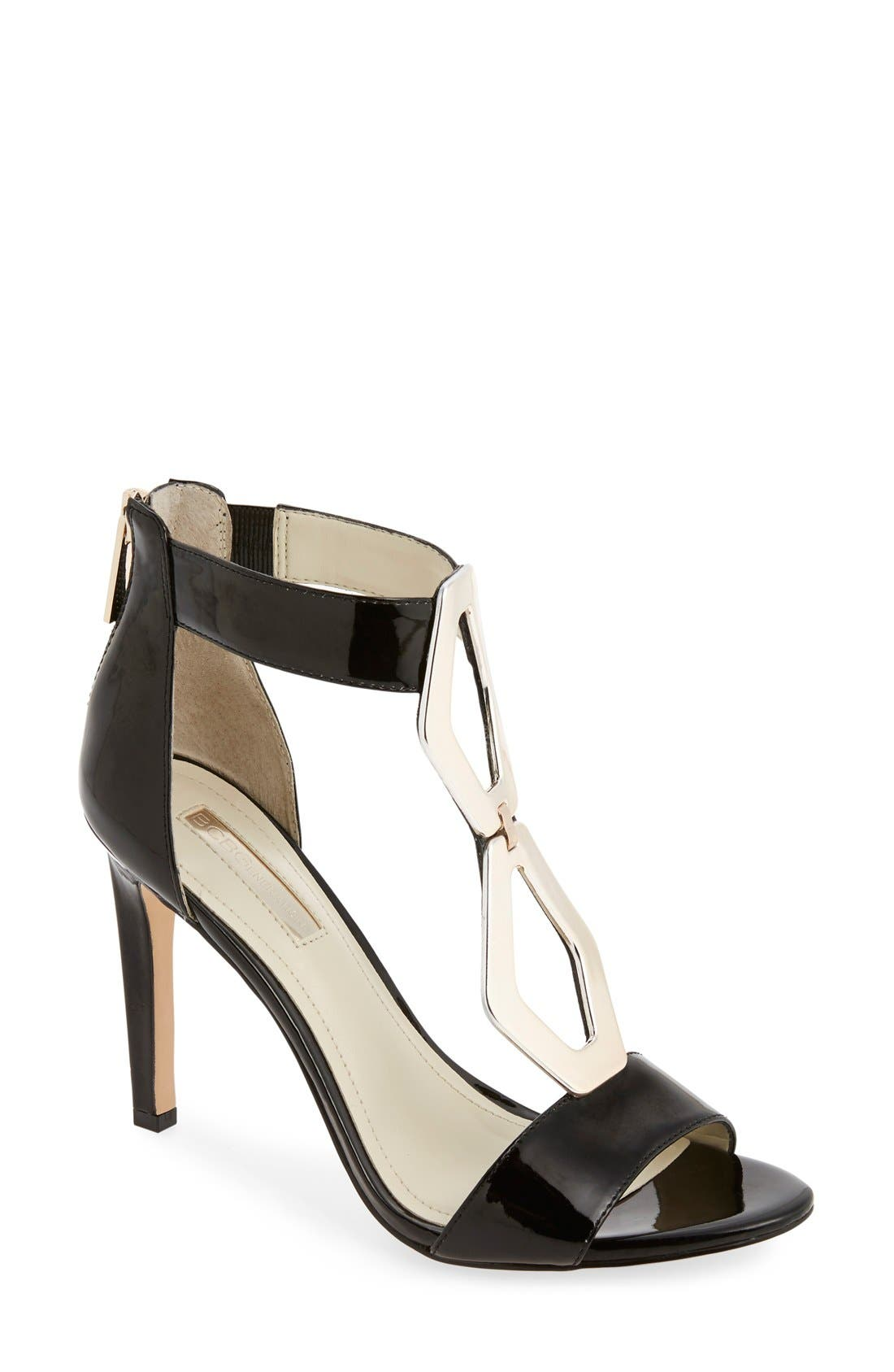 Alternate Image 1 Selected - BCBGeneration 'Cayce' Patent Sandal (Women)