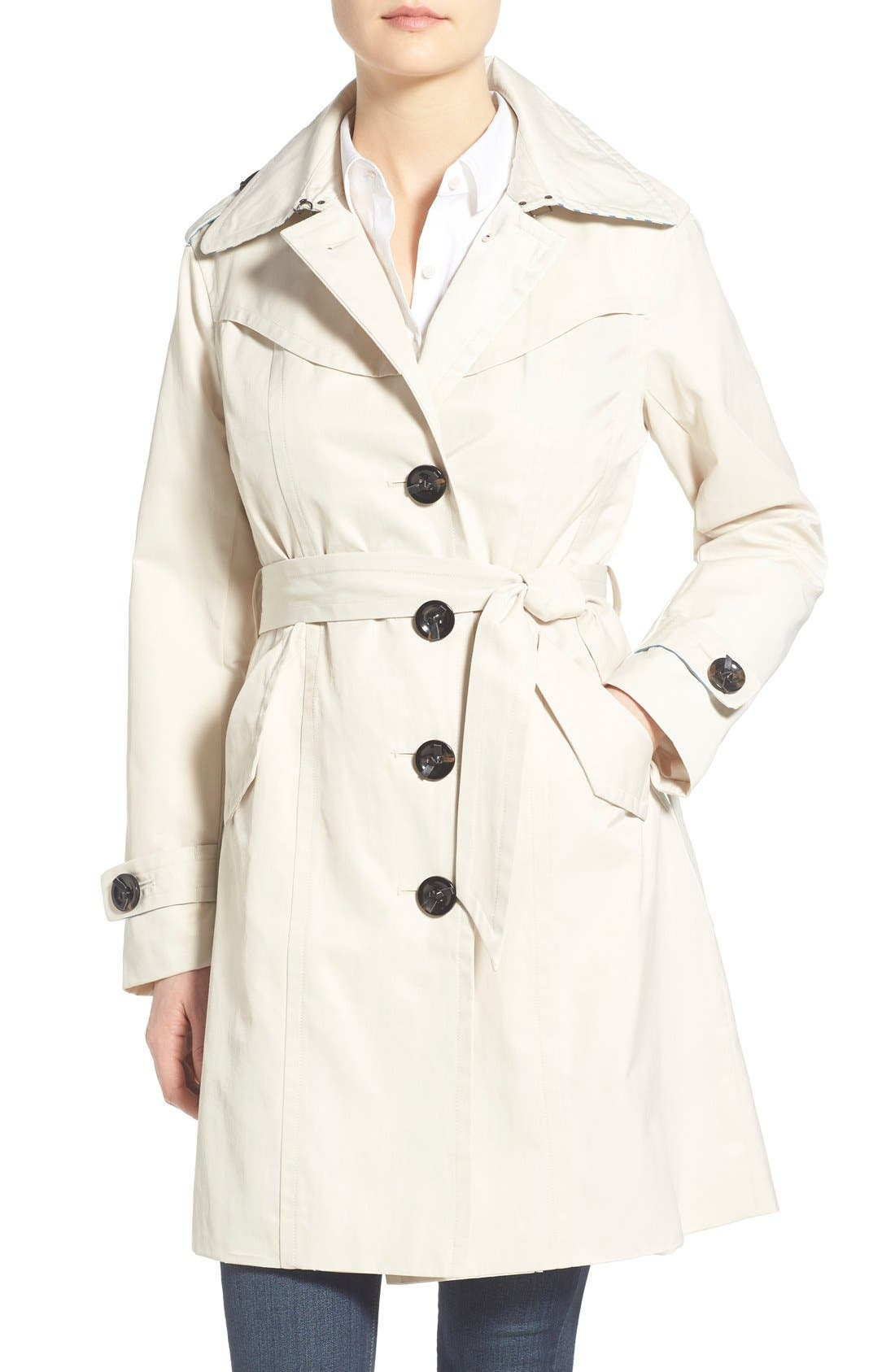 Main Image - Nanette Lepore Twill Trench Coat