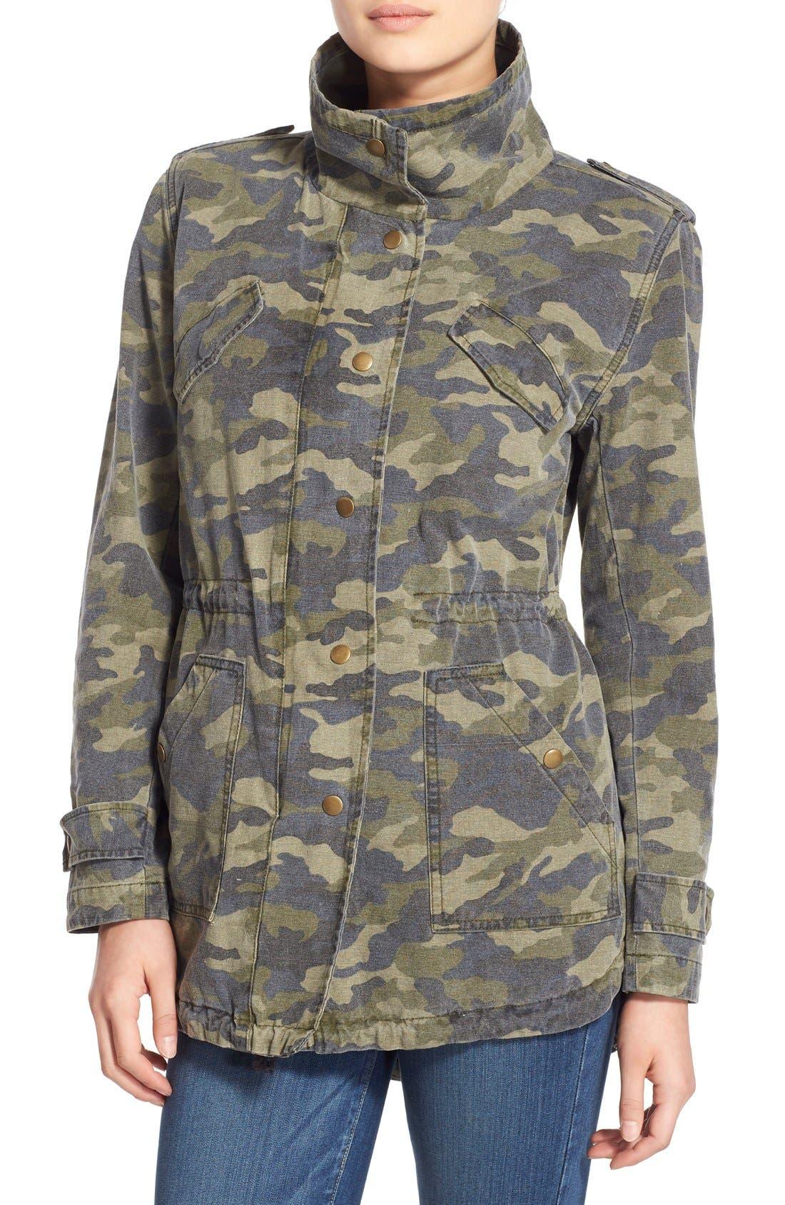 Alternate Image 4  - Velvet by Graham & Spencer 'Army' Cotton Jacket