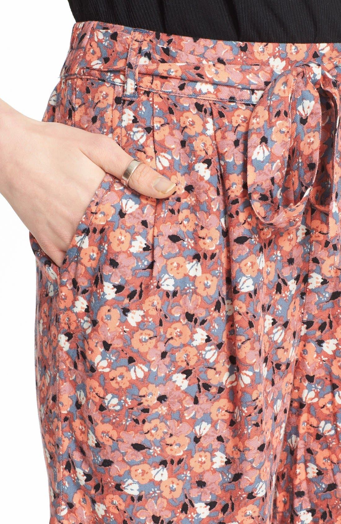 Alternate Image 4  - Free People 'Layla' Floral Print Shorts