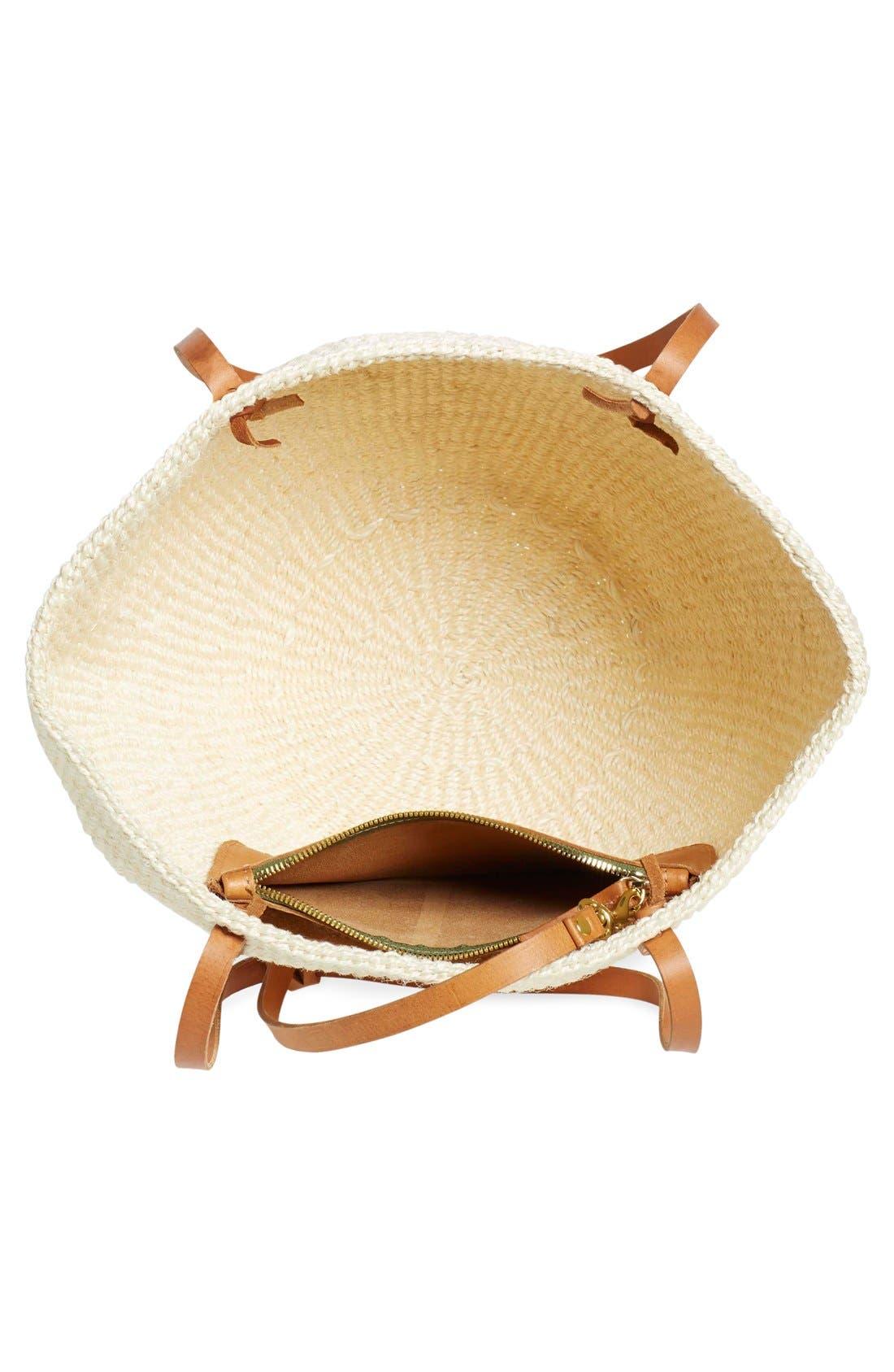 Alternate Image 4  - Clare V. 'Kenya' Sisal Shoulder Bag
