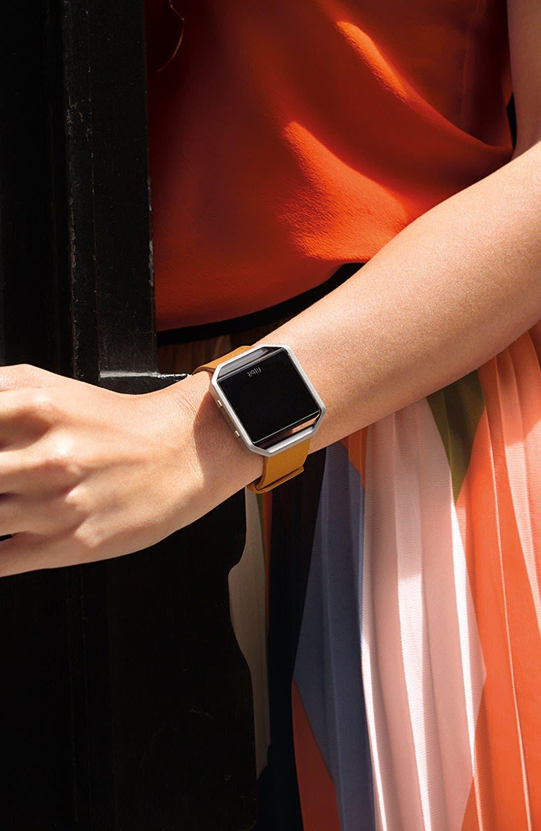 Alternate Image 6  - Fitbit Blaze Leather Smart Watch Band