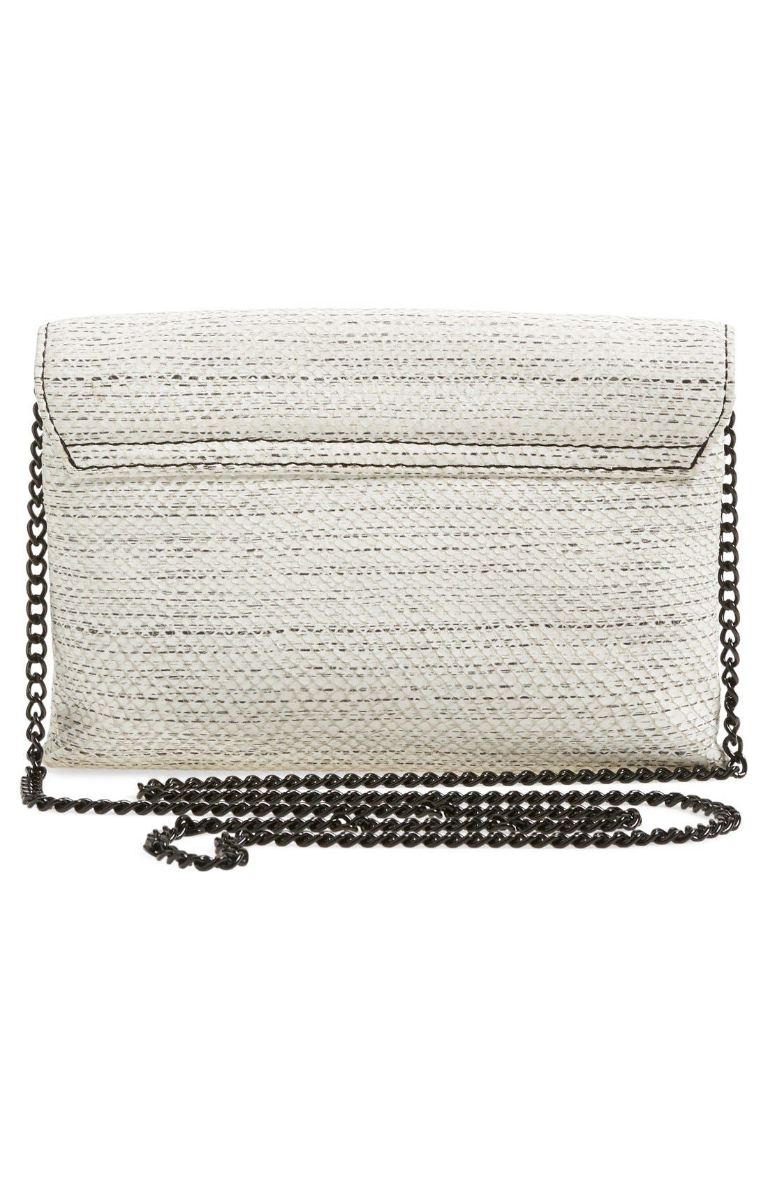 Alternate Image 3  - Loeffler Randall 'Junior Lock' Leather Envelope Clutch