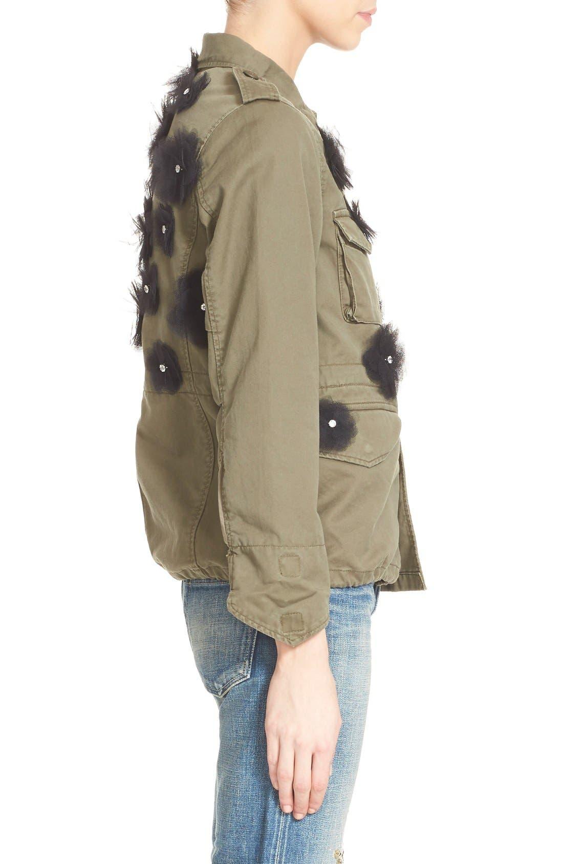 Alternate Image 5  - Tu es mon TRÉSOR Tulle Flower Military Jacket