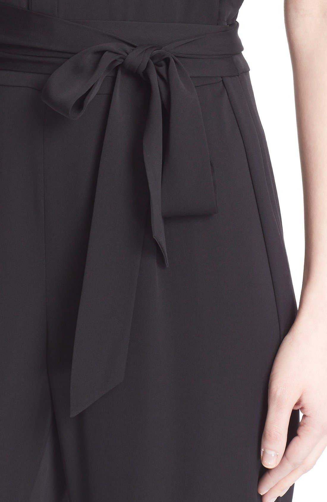 Alternate Image 4  - Diane von Furstenberg 'Traci' Stretch Silk Sleeveless Jumpsuit