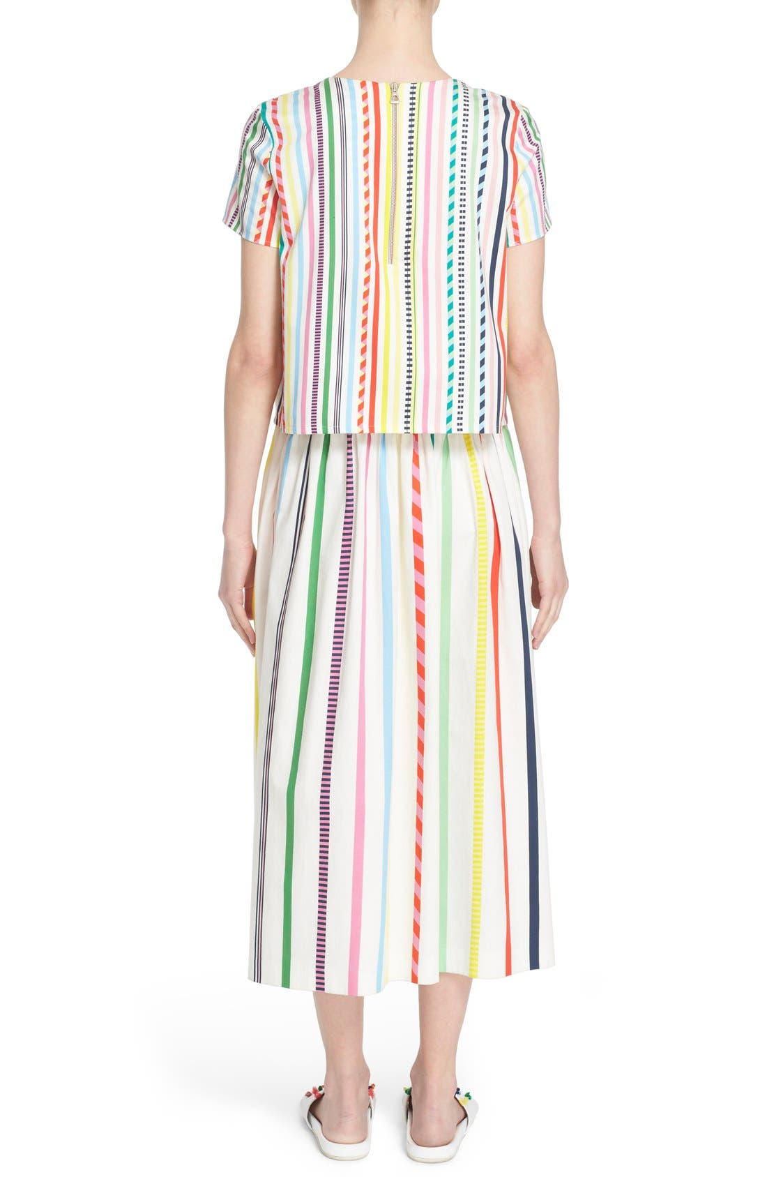 Alternate Image 2  - Mira Mikati Candy Stripe Print Popover Dress