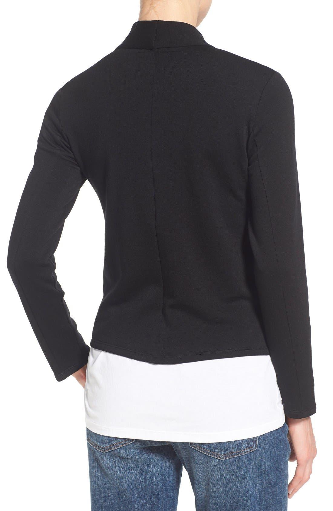 Alternate Image 2  - Eileen Fisher Tencel® Jersey High Collar Jacket (Regular & Petite)