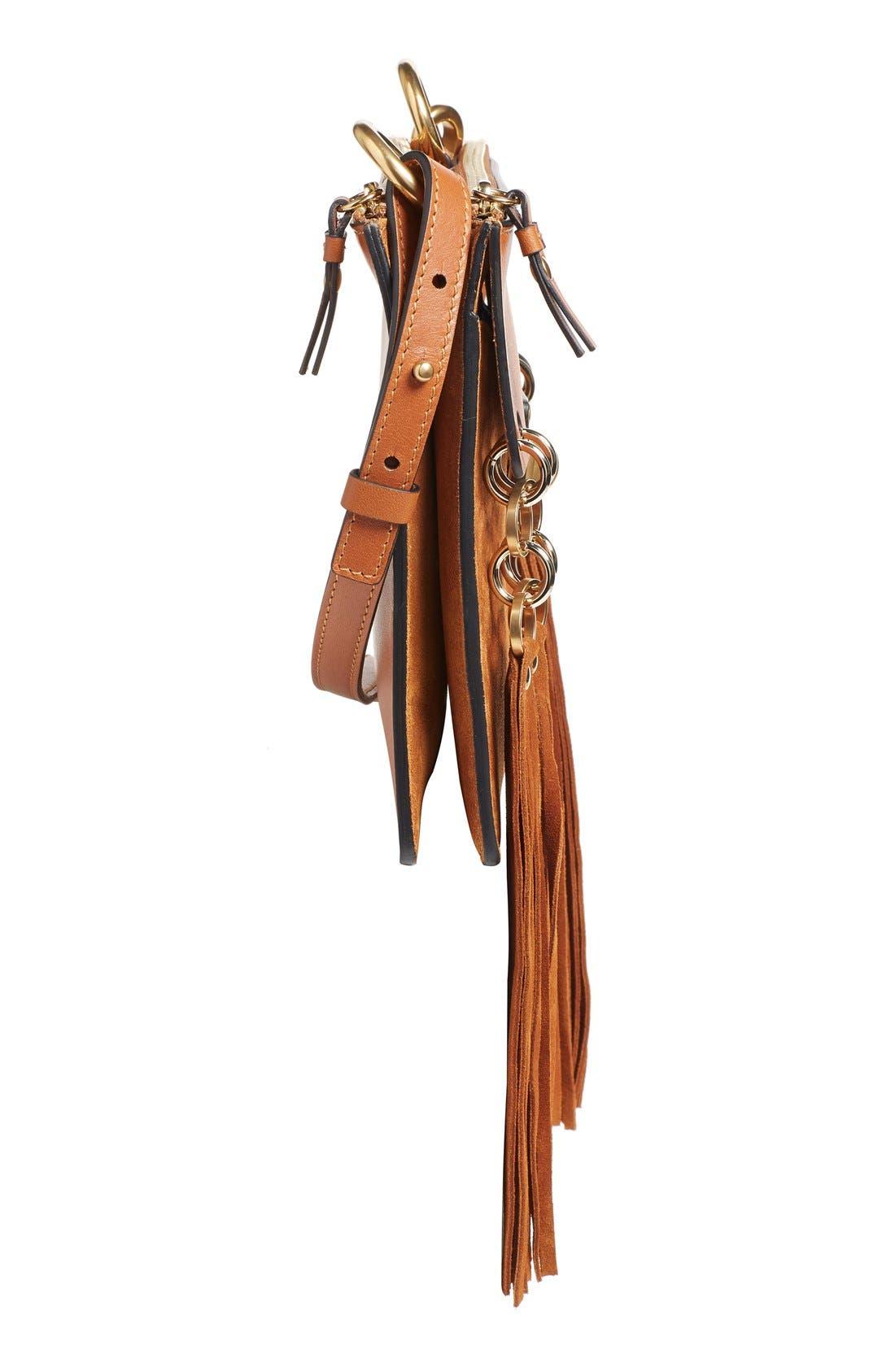 Alternate Image 4  - Chloé 'Small Jane' Tassel Suede & Leather Crossbody Bag