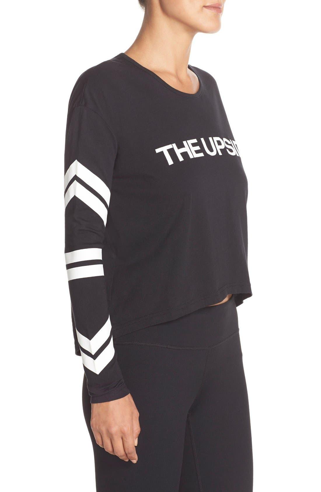 Alternate Image 3  - THE UPSIDE Logo Crop Pullover