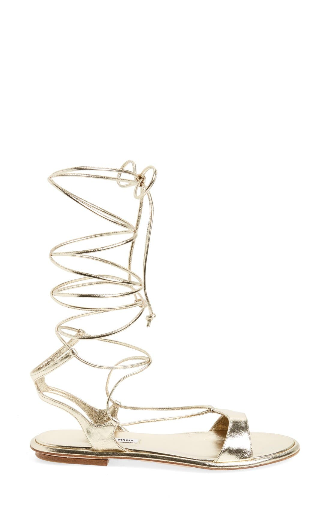 Alternate Image 4  - Miu Miu Gladiator Sandal (Women)