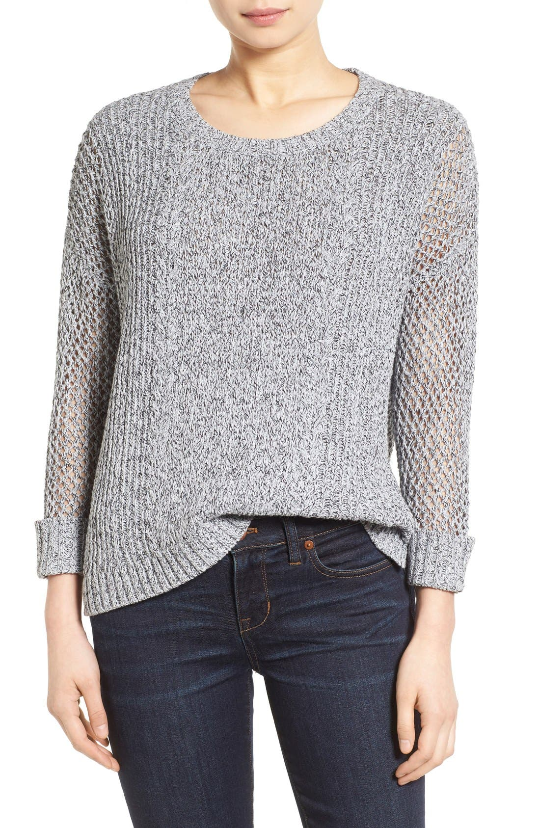 Main Image - Madewell 'Karlie' Cable Knit Sweater