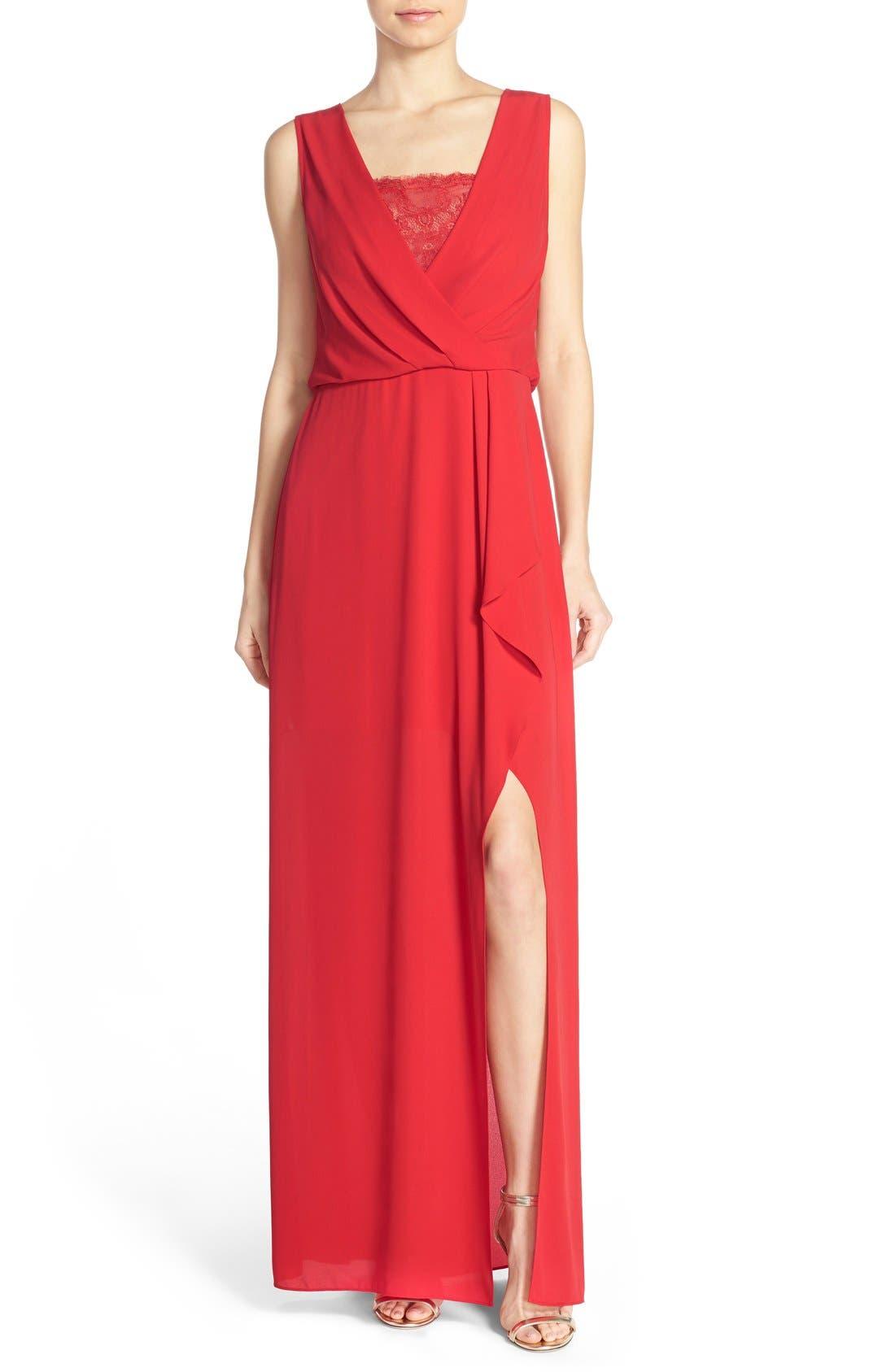 Alternate Image 1 Selected - BCBGMAXAZRIA Georgette Blouson Gown