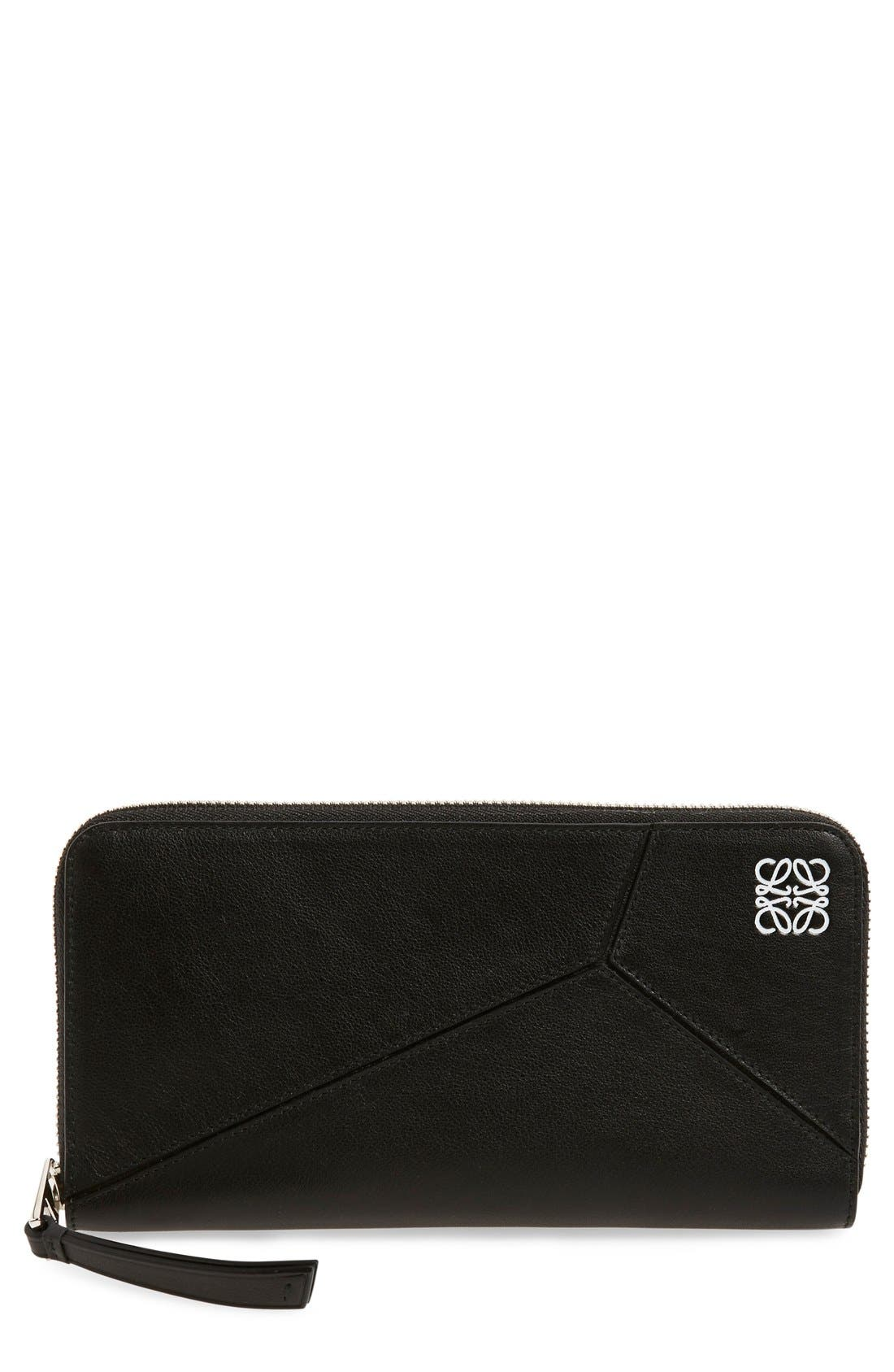 Loewe 'Puzzle' Leather Zip Around Wallet