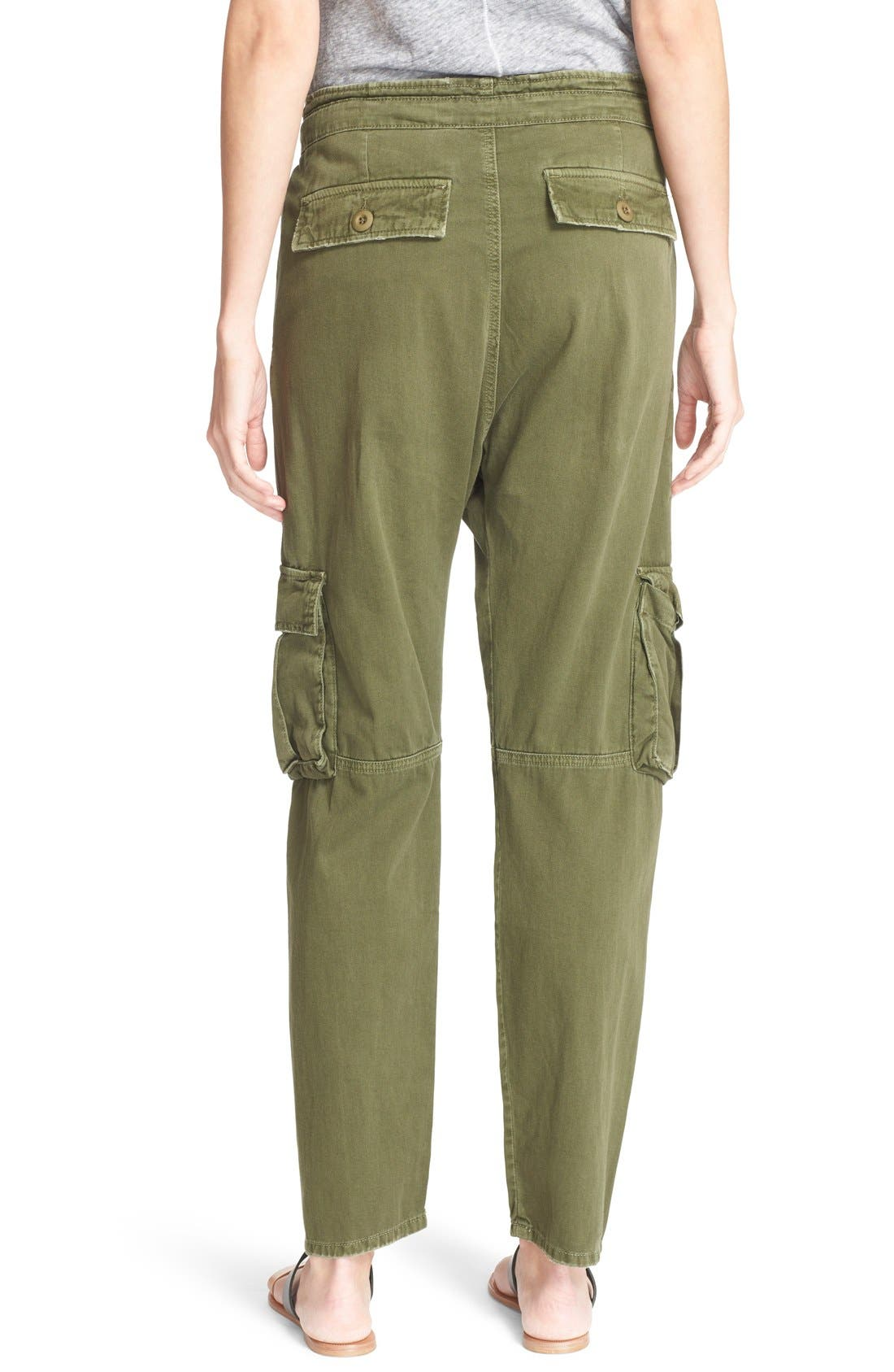 Alternate Image 2  - Current/Elliott 'The Buddy' Cotton Twill Trousers