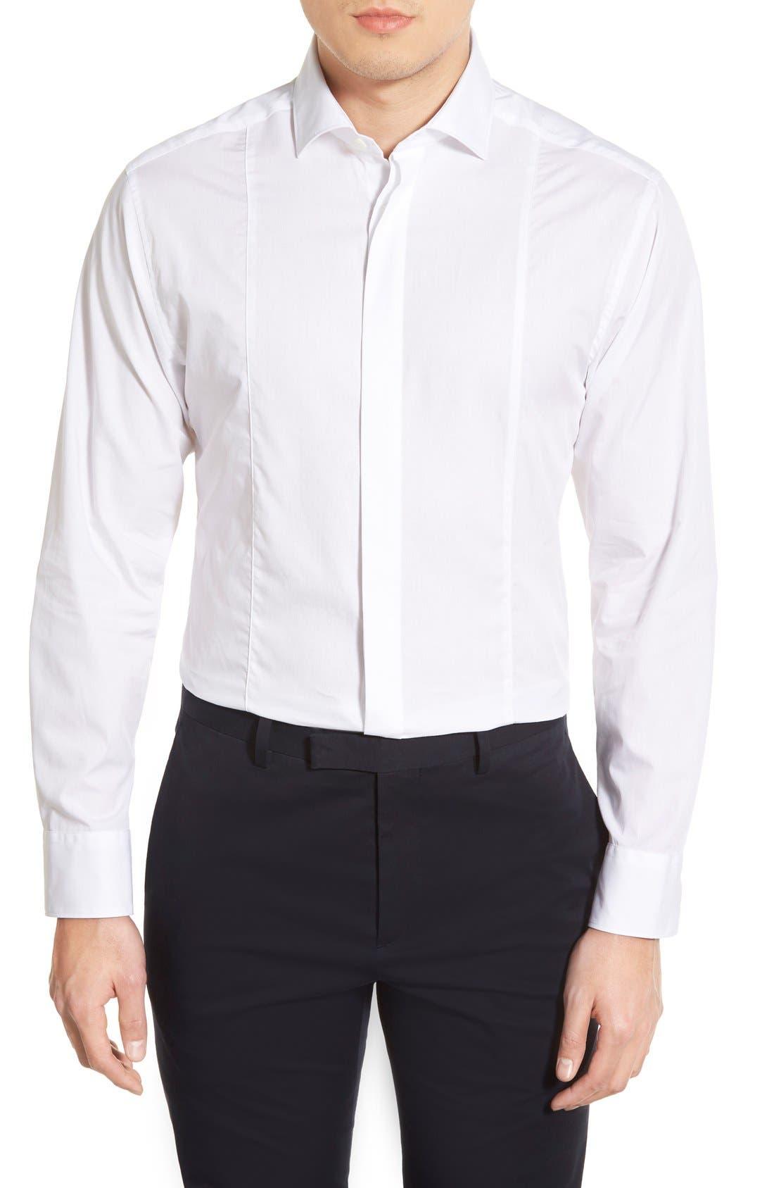 VINCE CAMUTO Trim Fit Tuxedo Shirt