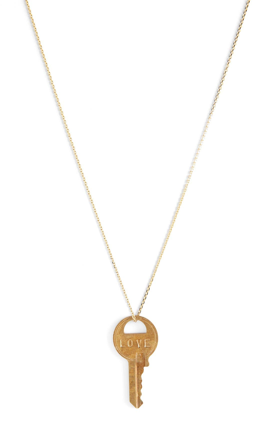 Alternate Image 1 Selected - The Giving Keys Dainty Classic Hope 18-Inch Gold Key Pendant Necklace