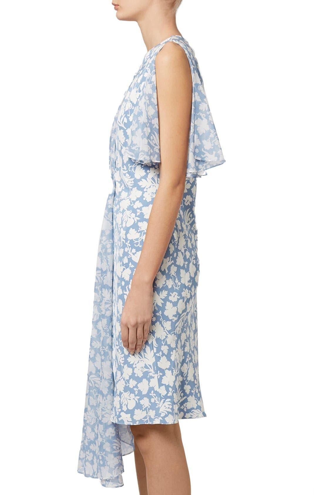 Alternate Image 4  - Topshop Unique 'Belfour' Floral Print Silk Dress