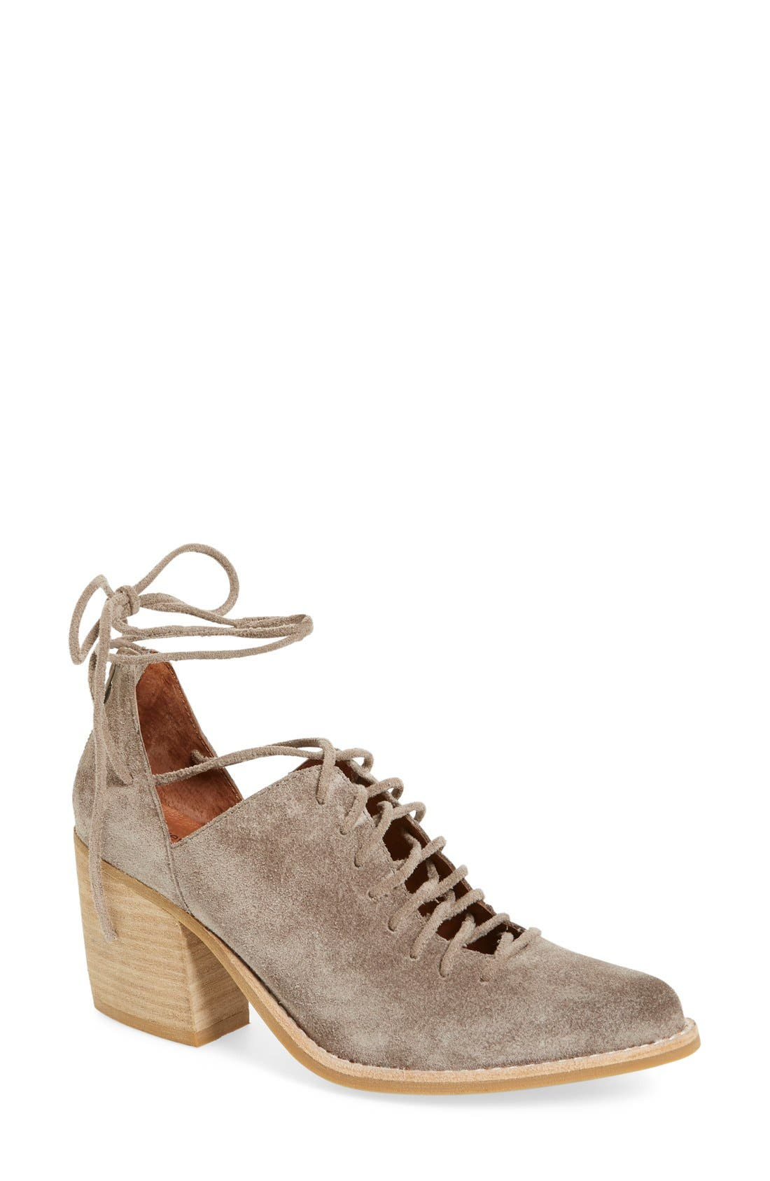 Alternate Image 1 Selected - Jeffrey Campbell 'Amata-Tie' Lace-Up Bootie (Women)