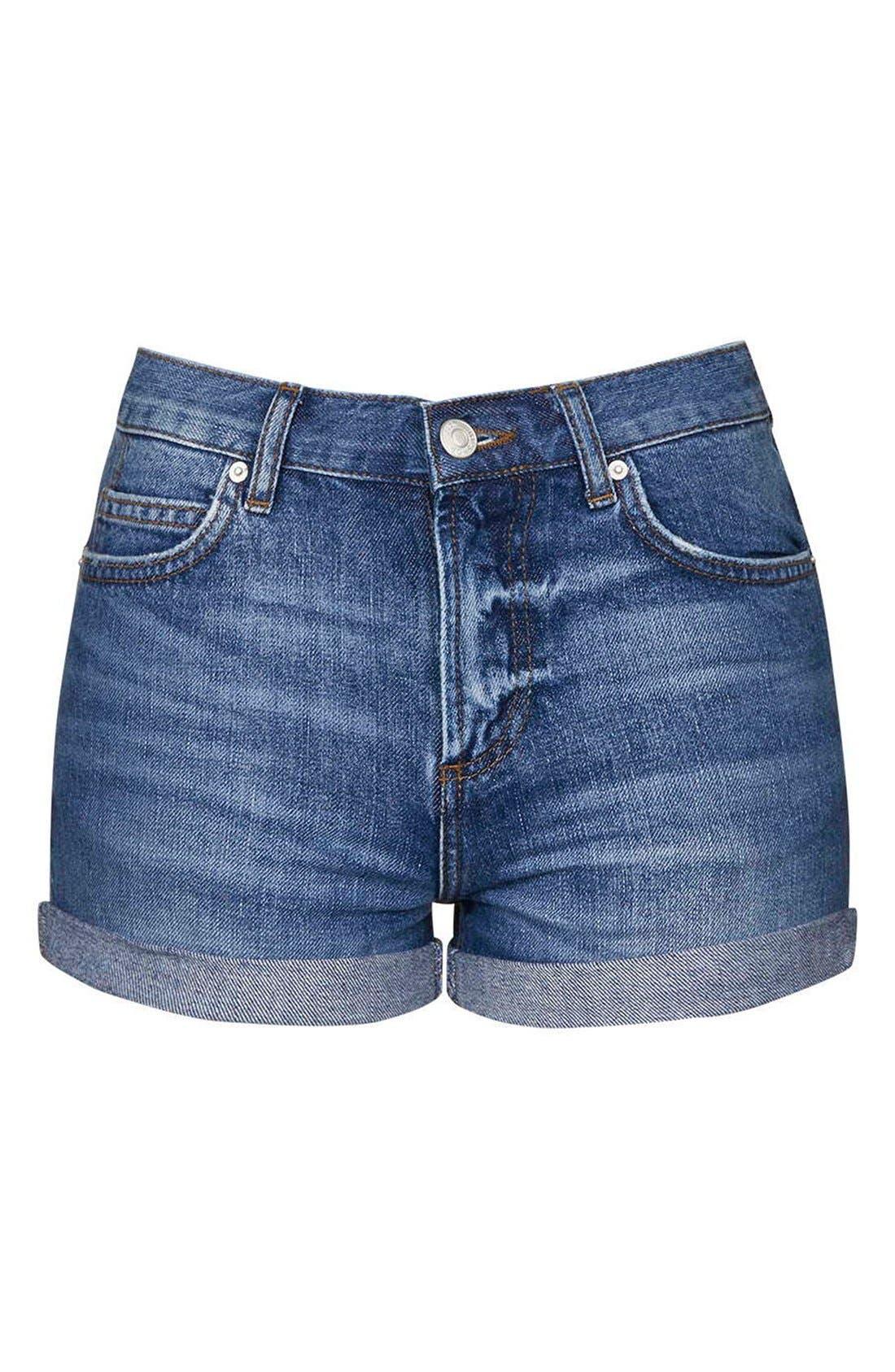 Alternate Image 4  - Topshop Moto 'Rosa' Denim Shorts