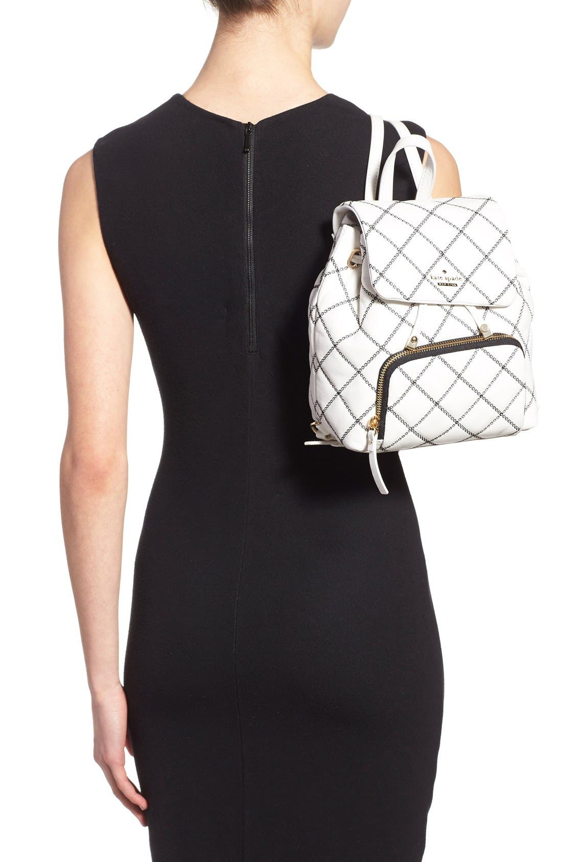 Alternate Image 2  - kate spade new york 'emerson place - jessa' quilted leather backpack