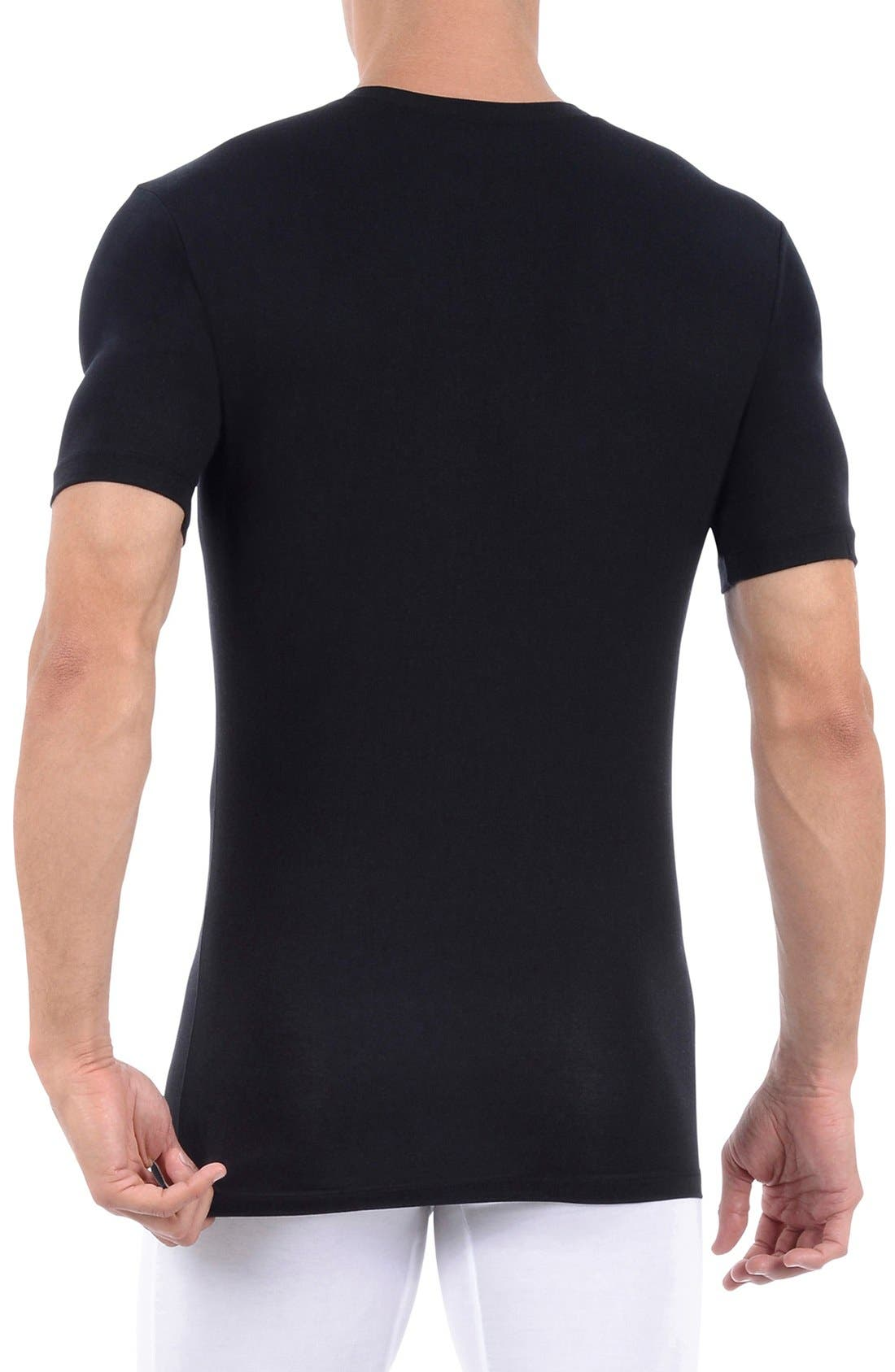 Alternate Image 2  - Tommy John 'Second Skin' Deep V-Neck Undershirt