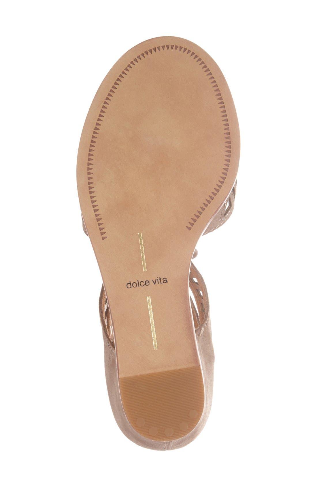 Alternate Image 4  - Dolce Vita 'Linsey' Lace-Up Wedge Sandal (Women)