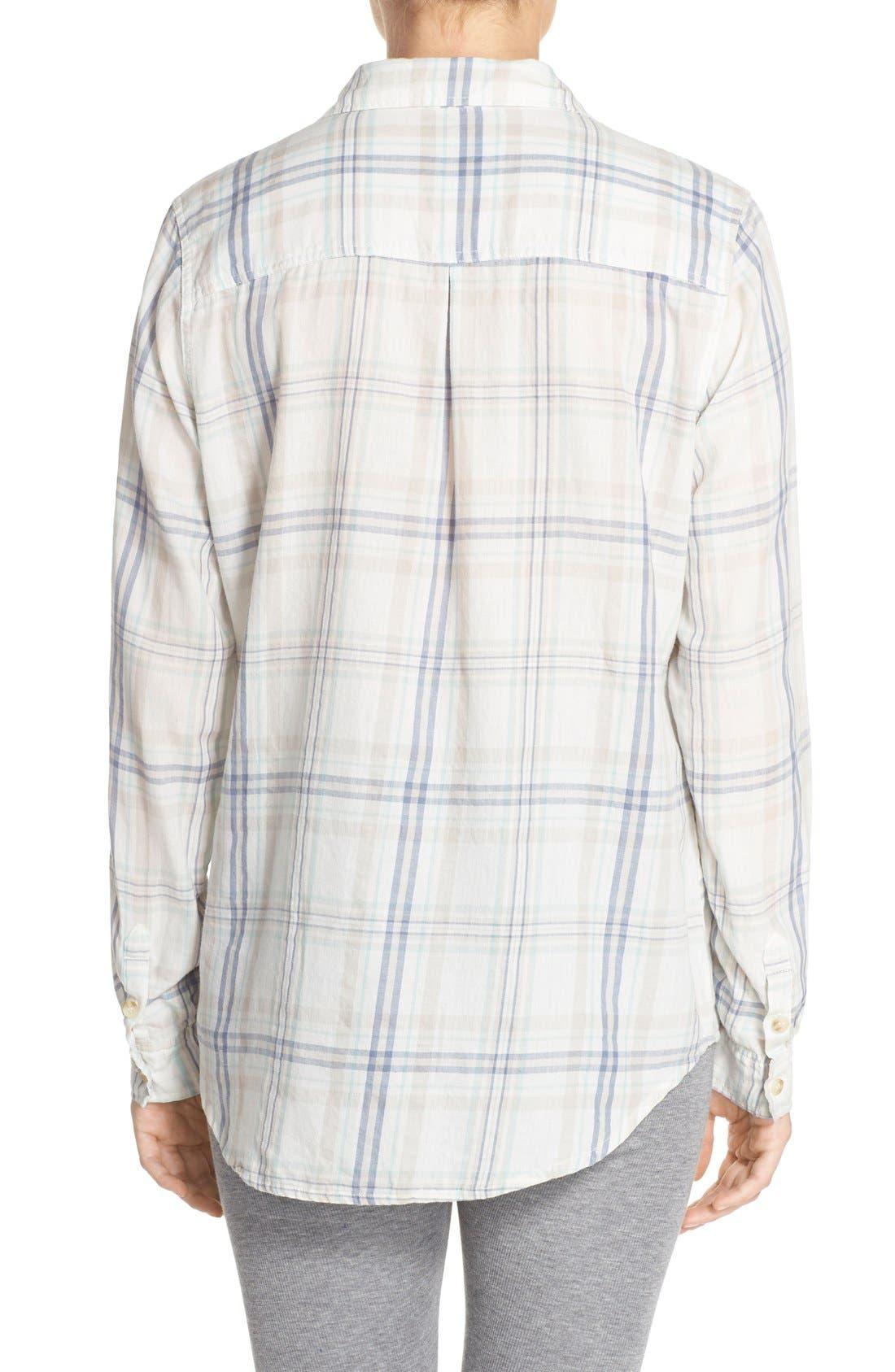Alternate Image 2  - PJ Salvage Plaid Cotton Twill Shirt