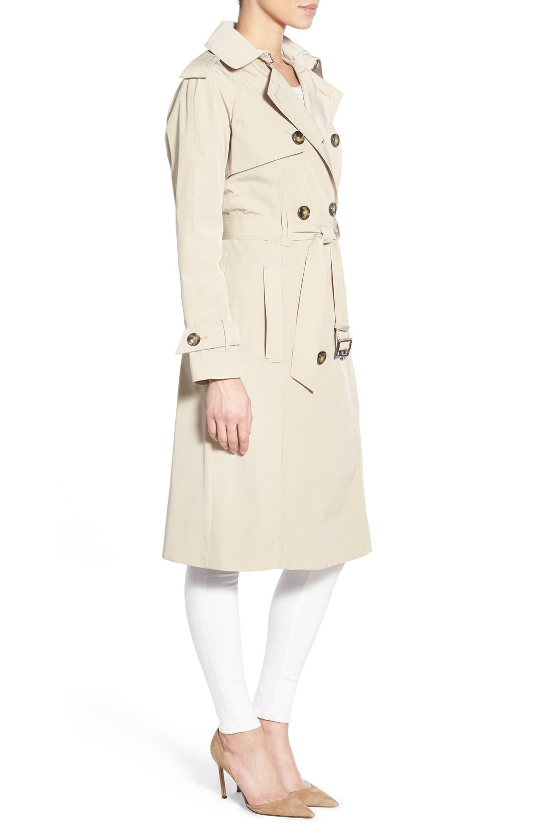 Alternate Image 3  - London Fog Double Breasted Trench Coat (Regular & Petite)