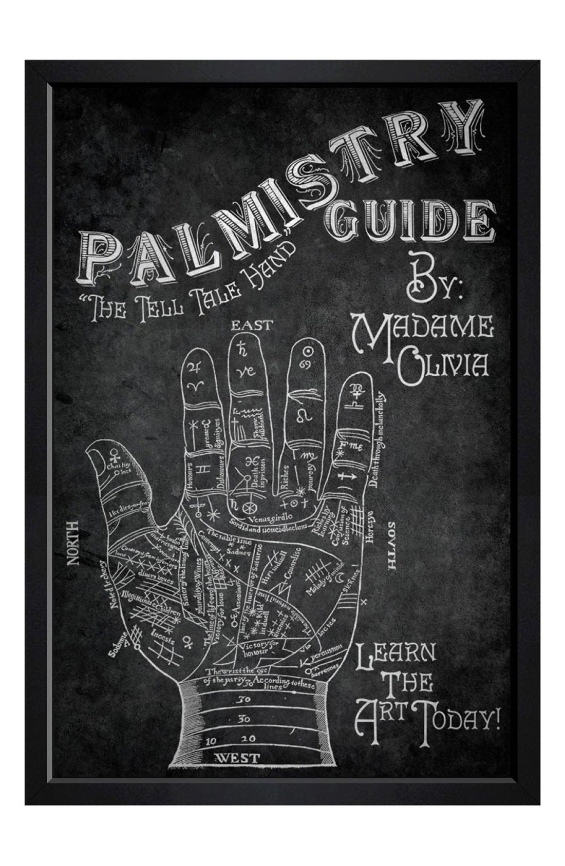 HATCHER & ETHAN 'Palmistry Book' Framed Print
