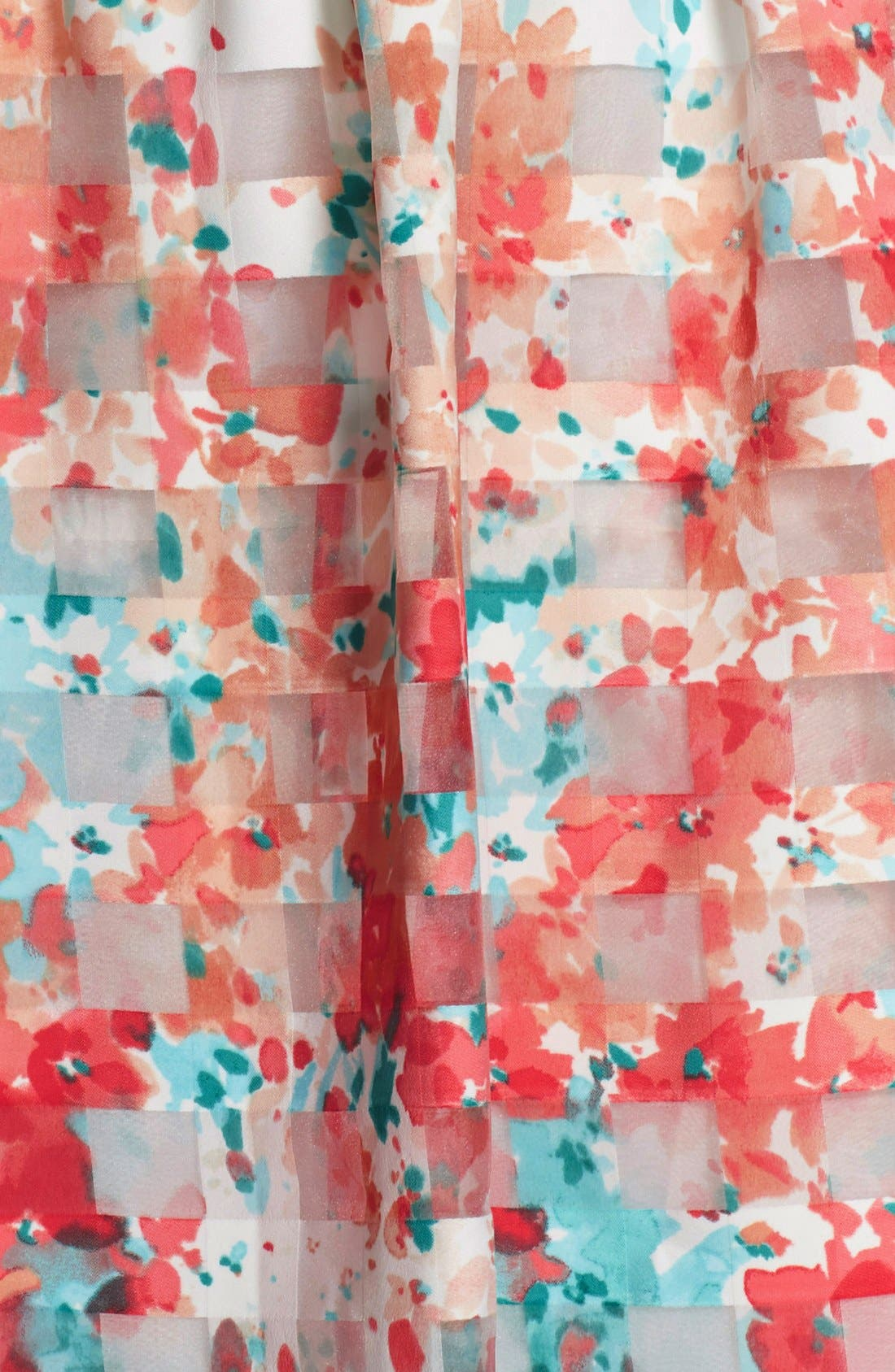 Alternate Image 6  - Chetta B Floral Organza Fit & Flare Dress