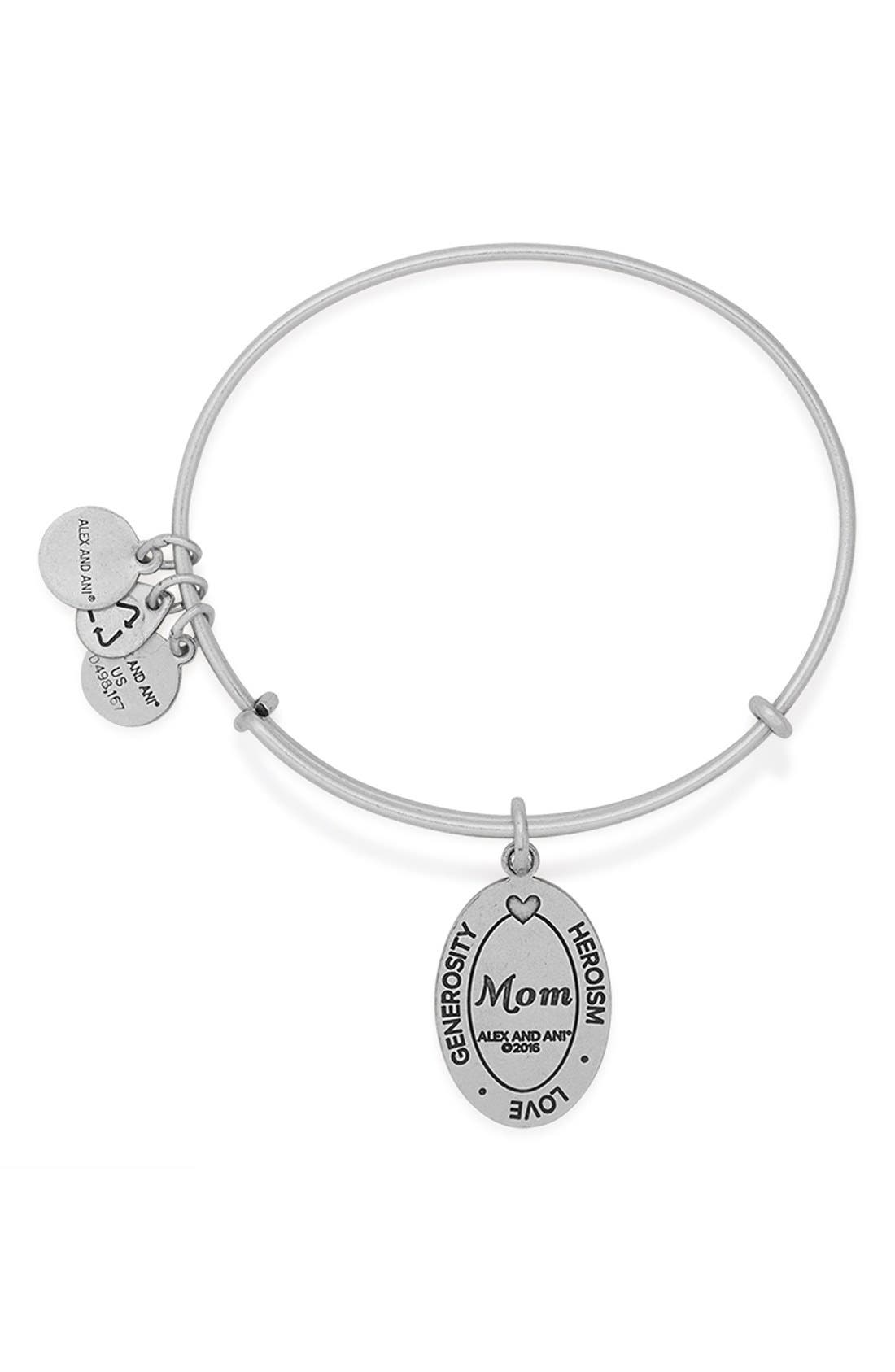 Alternate Image 4  - Alex and Ani 'I Love You Mom' Expandable Wire Bangle