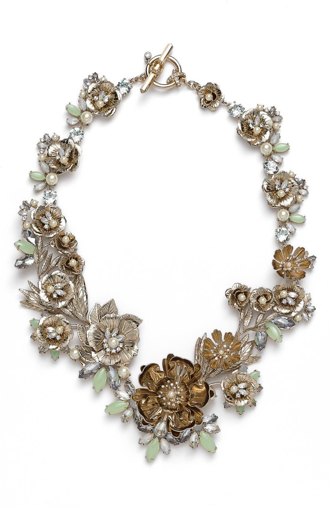Alternate Image 1 Selected - Marchesa 'Drama' Crystal Floral Collar Neckace