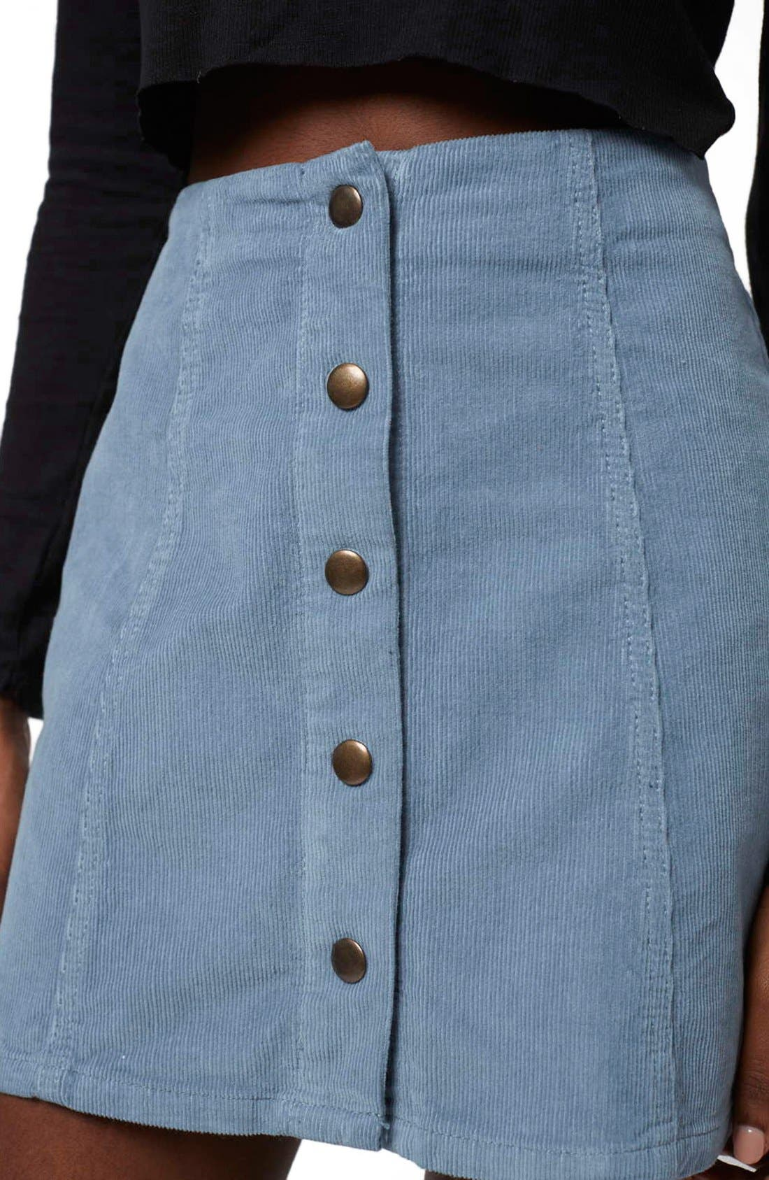 Alternate Image 5  - Topshop A-Line Corduroy Skirt