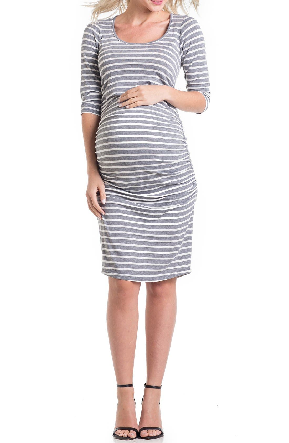 Lilac Clothing Stripe Maternity Dress