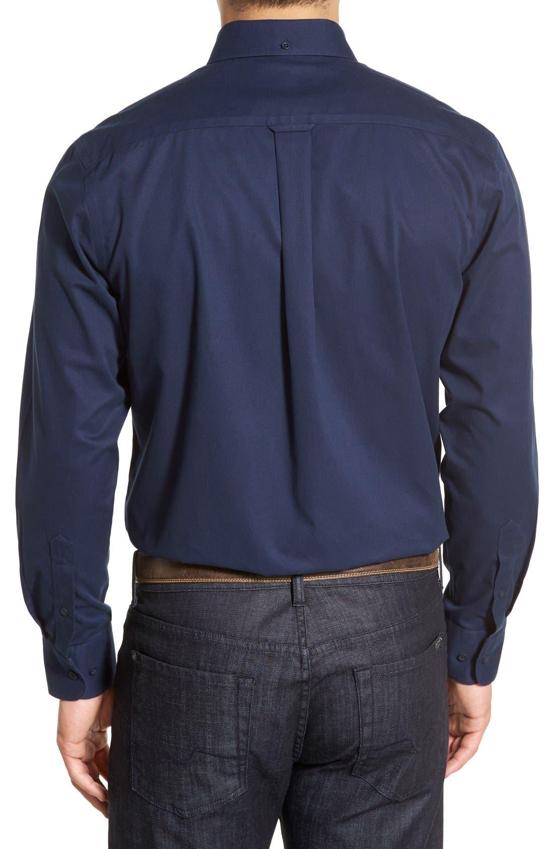 Alternate Image 2  - Nordstrom Men's Shop Smartcare™ Traditional Fit Twill Boat Shirt (Regular & Tall)